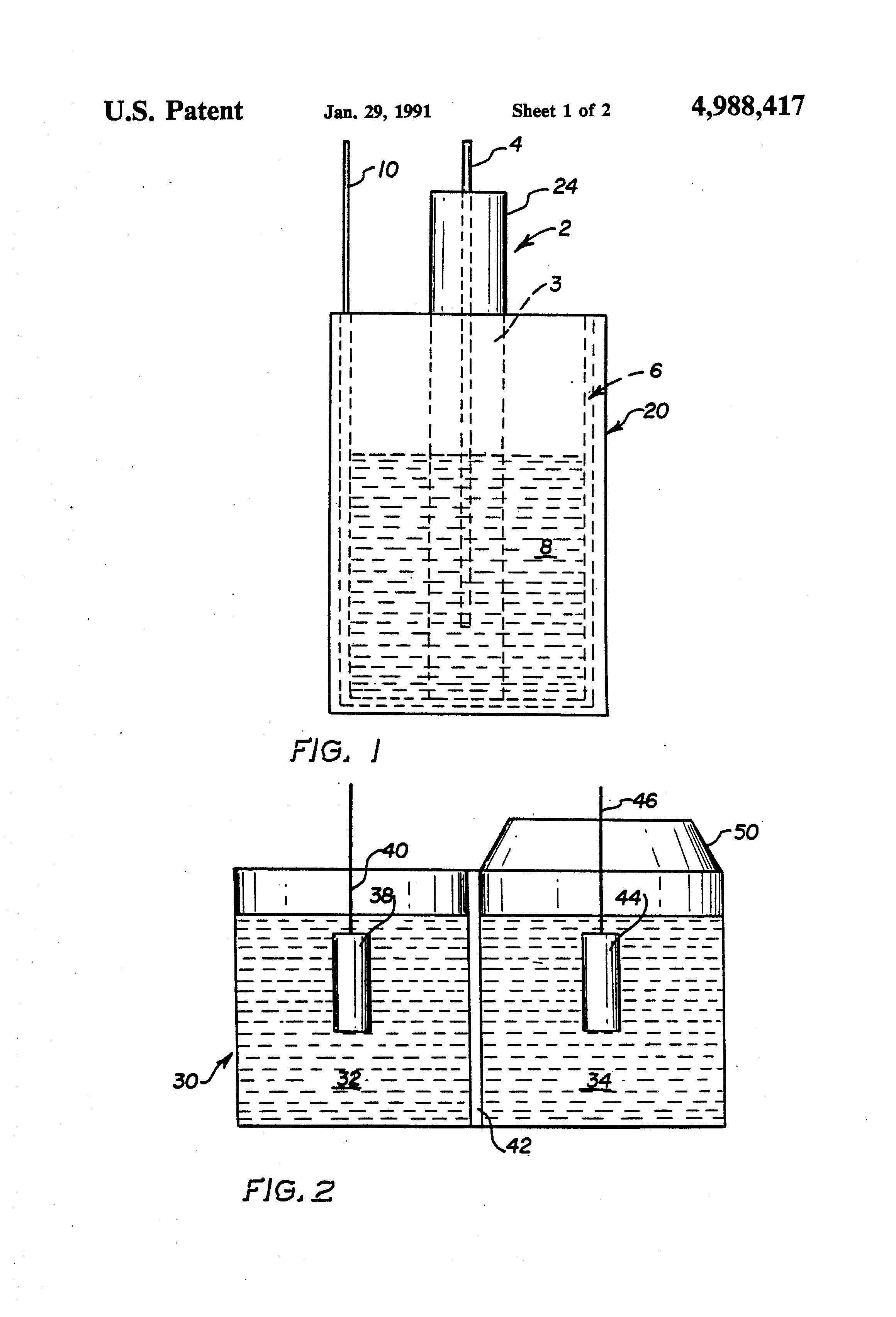 patent us4988417 - production of lithium by direct electrolysis of lithium carbonate