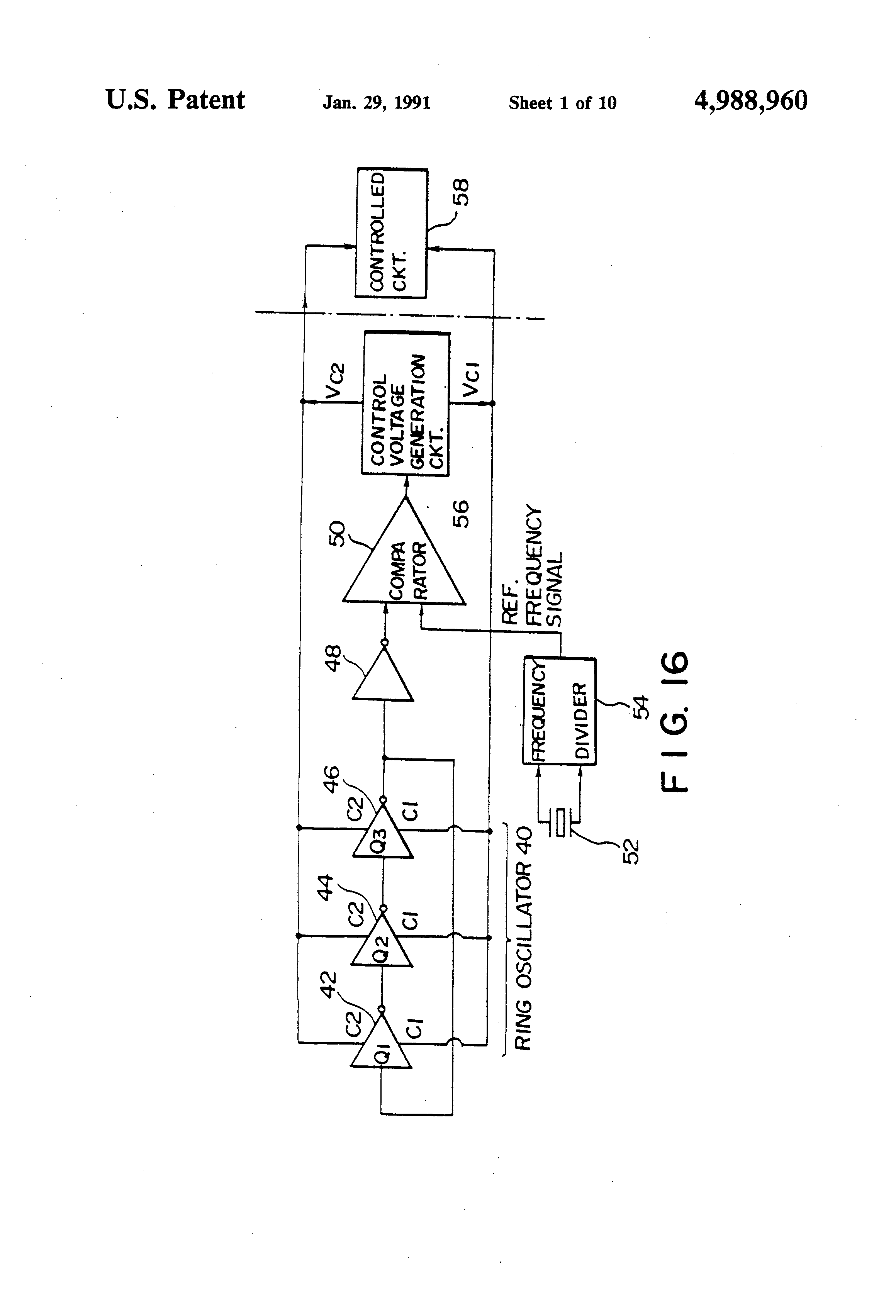 Patent Us4988960 Fm Demodulation Device And Modulation Pll Demodulator Circuit Schematic Diagram Drawing