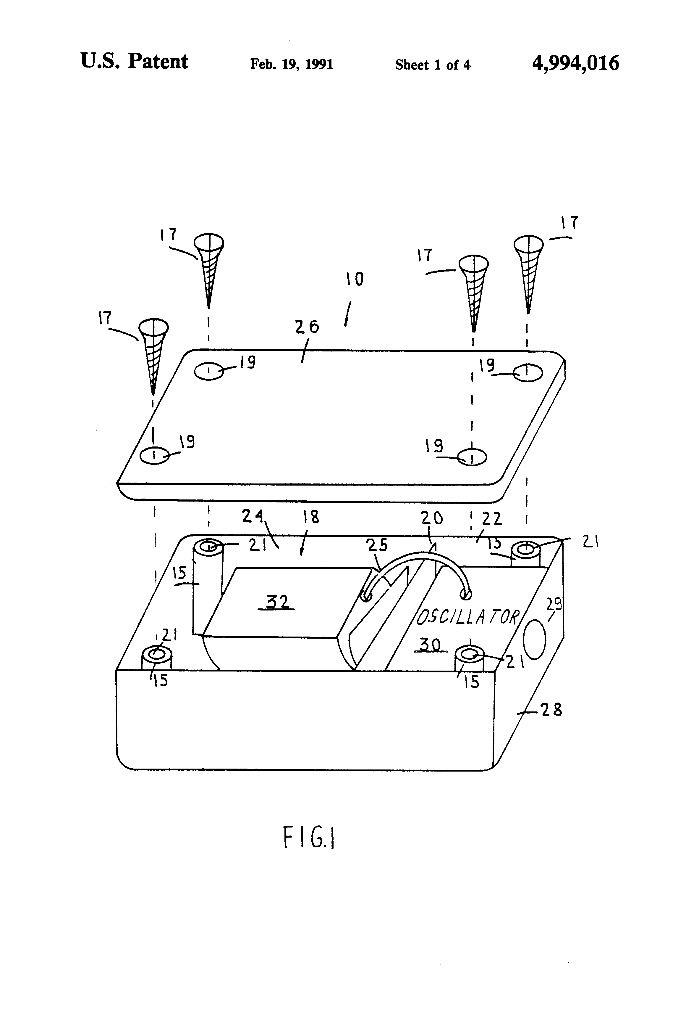 Patente Us4994016 Electronic Stimulating Device Google Patentes Sawtooth Wave Generator Circuit Using Ujt Patent Drawing