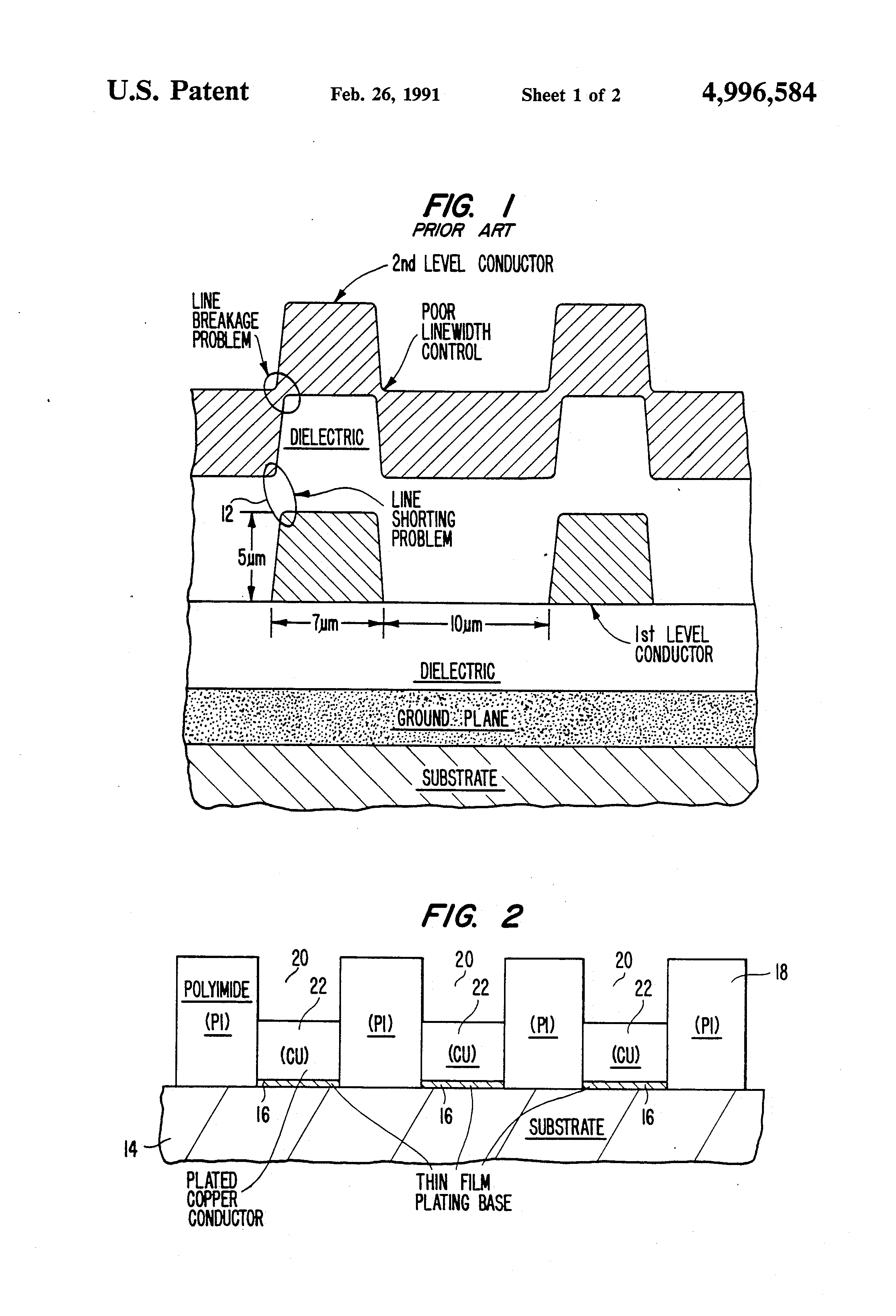 Patent Us4996584 Thin Film Electrical Connections For Integrated Circuit Substrate Of Semiconductor Material Drawing