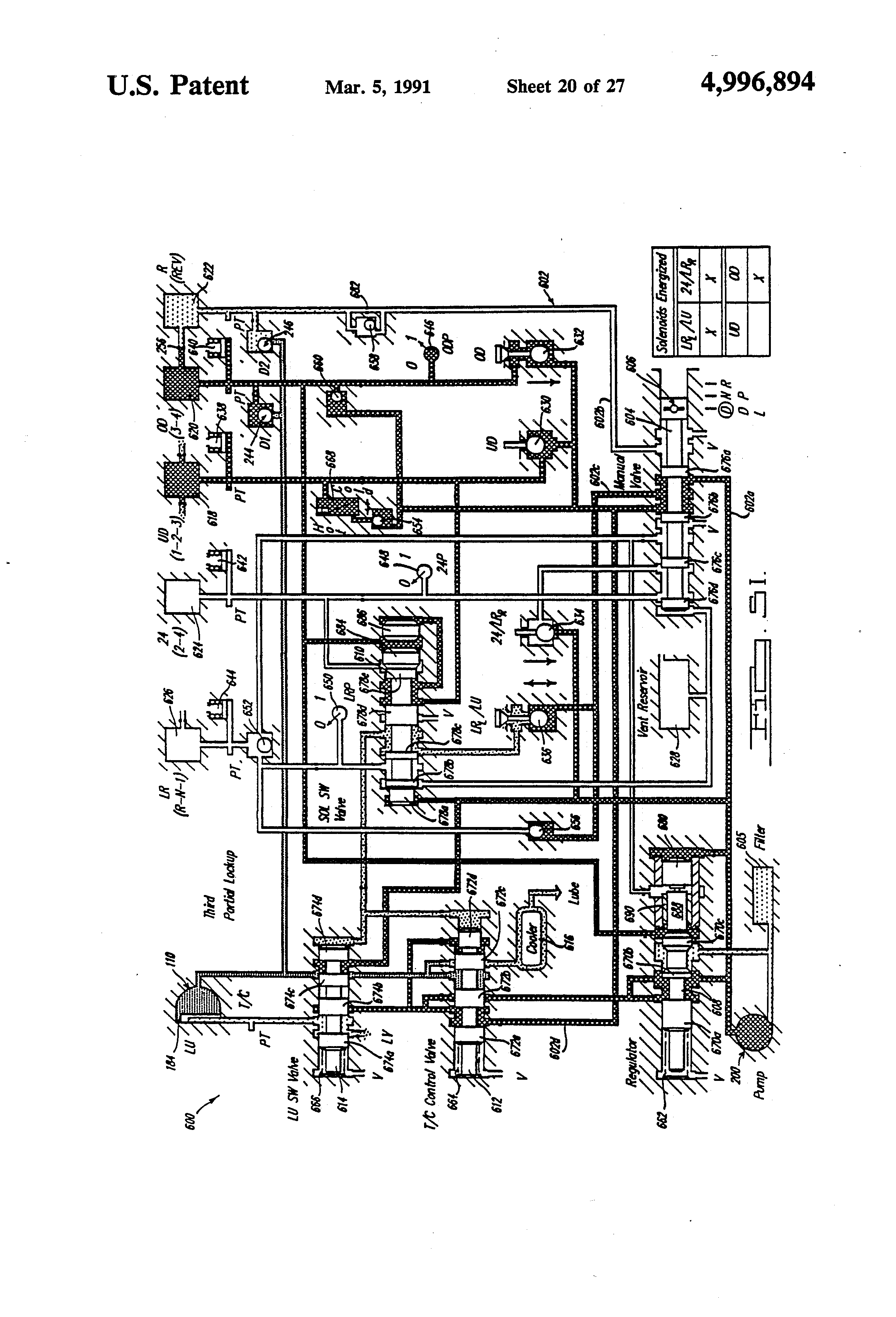 Patent Us4996894 Fluid Actuated Switch Valve In An Automatic Control System For On 424 International Tractor Hydraulics Diagram Drawing