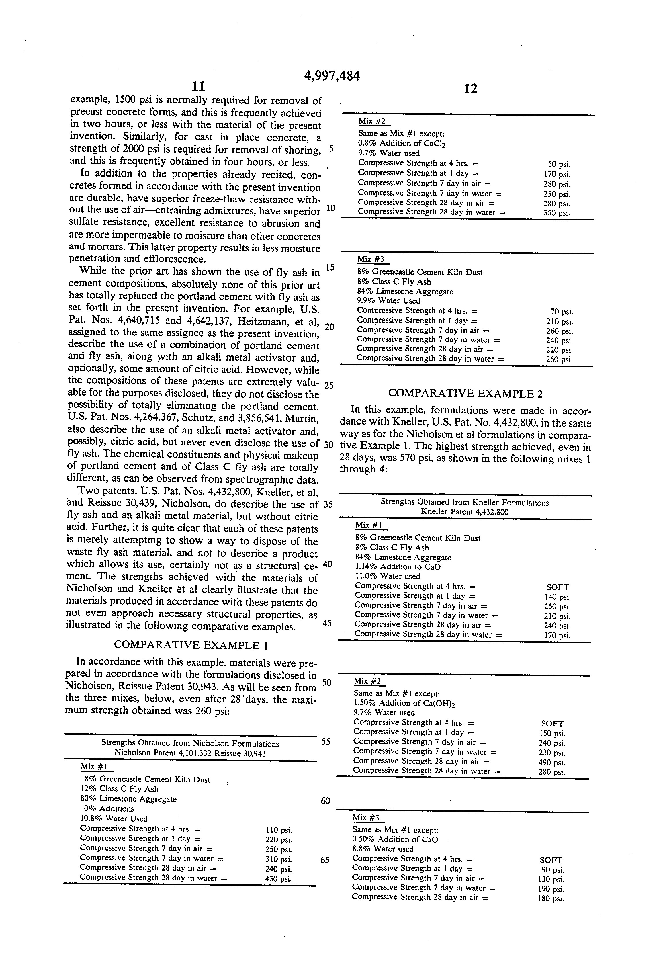 patent us hydraulic cement and composition employing the patent drawing