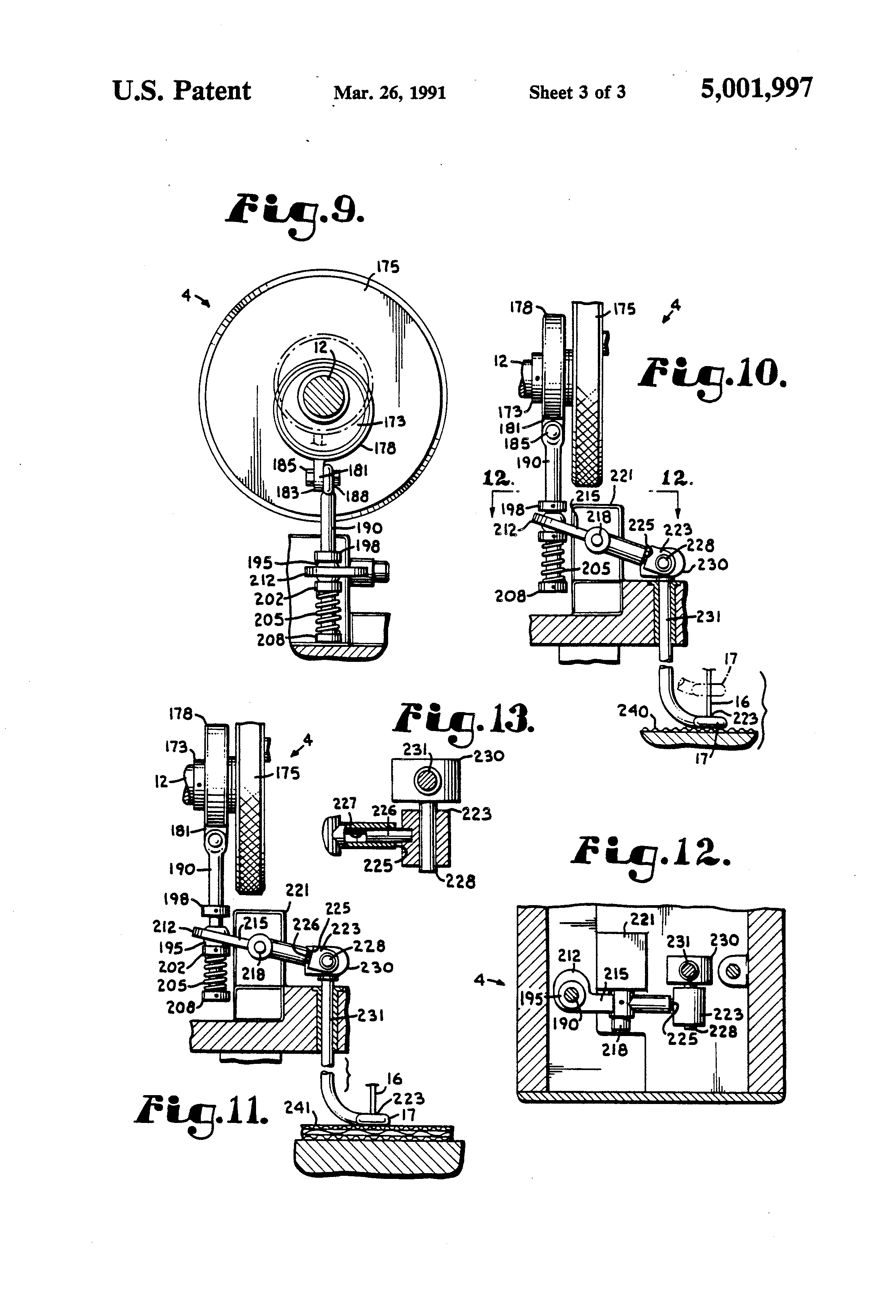 Patent US5001997 - Sewing mechanism for quilting machine - Google ...