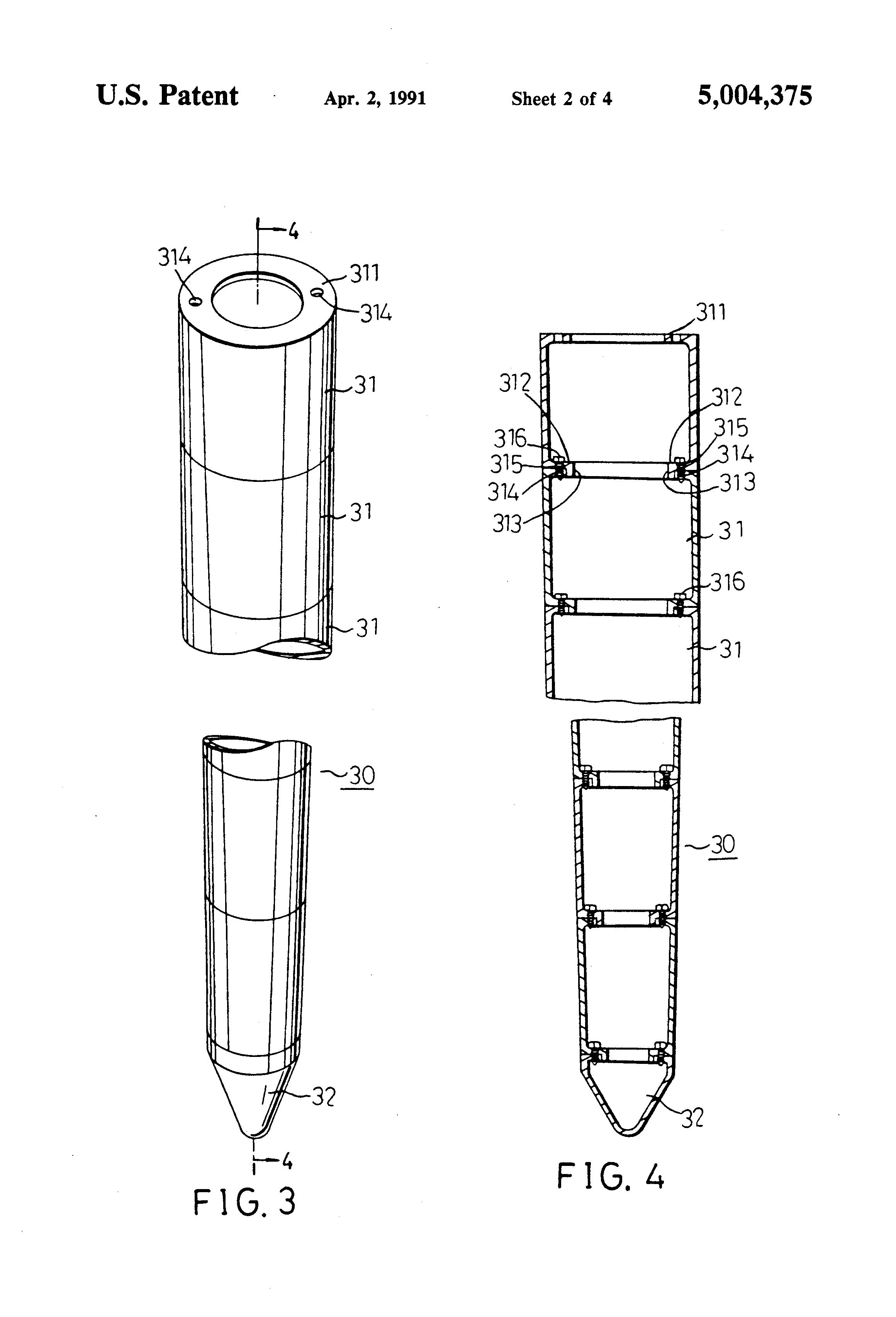 Patent Us5004375 Basement Piles And Basement