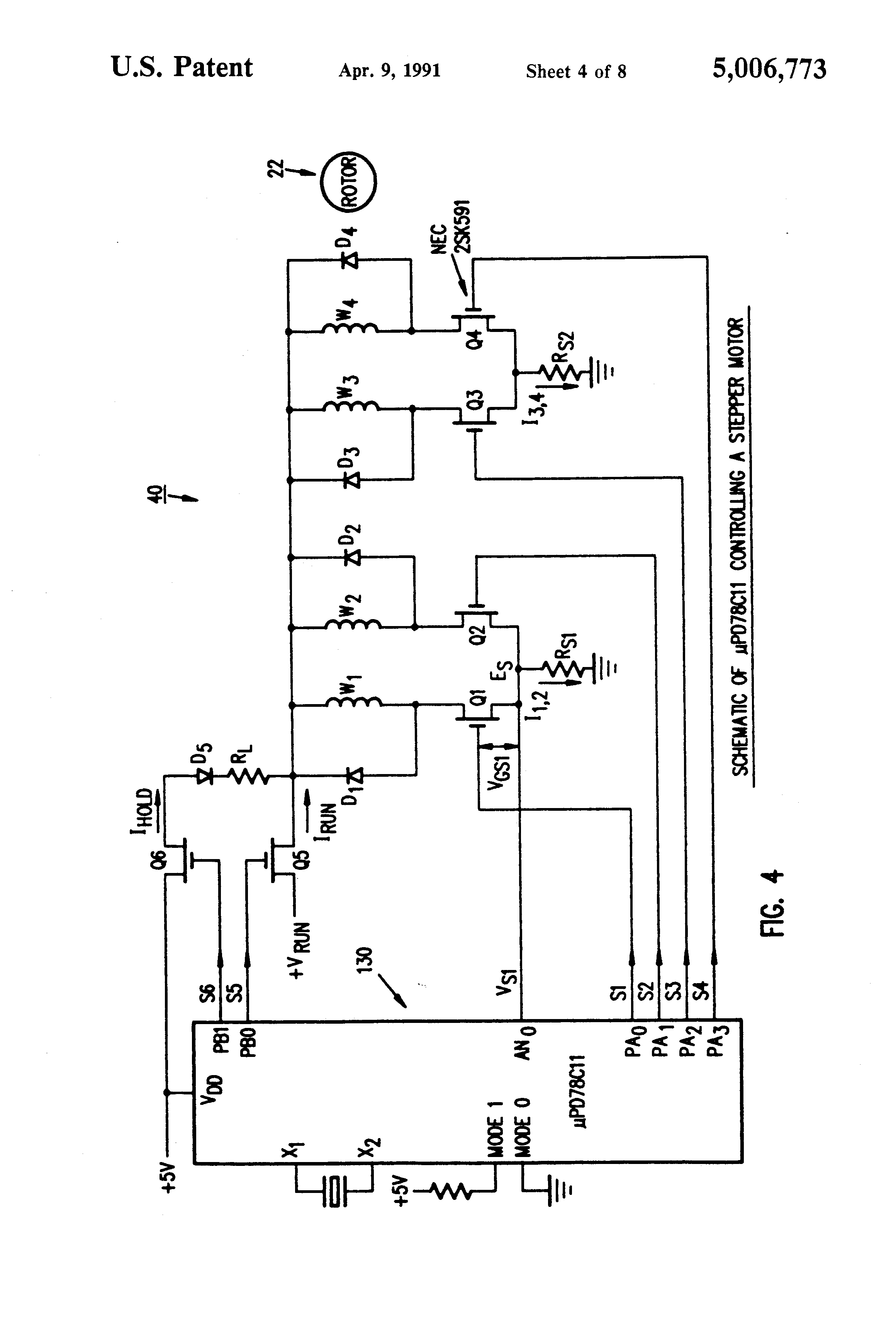 US5006773 4 patent us5006773 microcomputer control of stepper motor using  at gsmportal.co