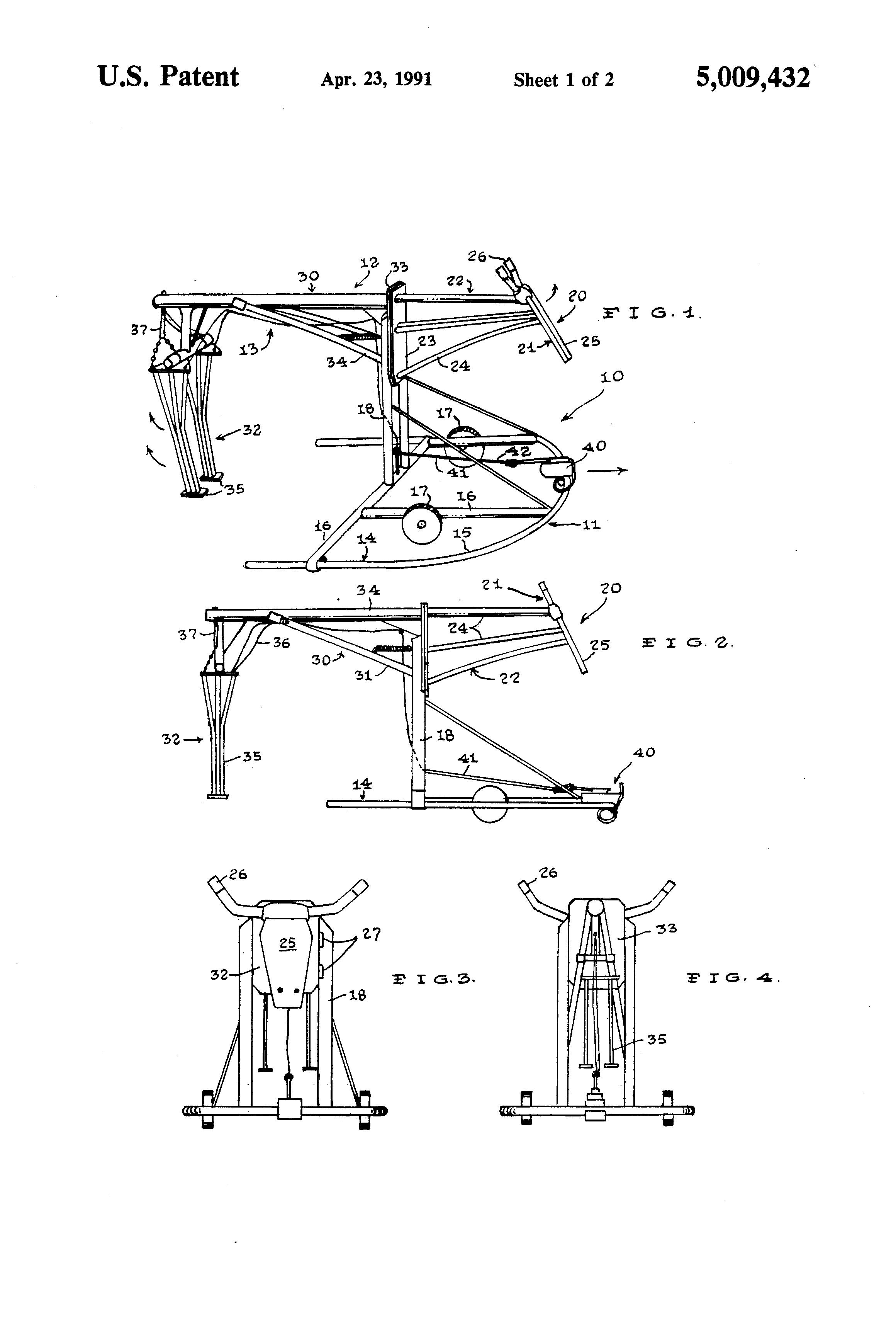 patent us5009432 - roping practice apparatus