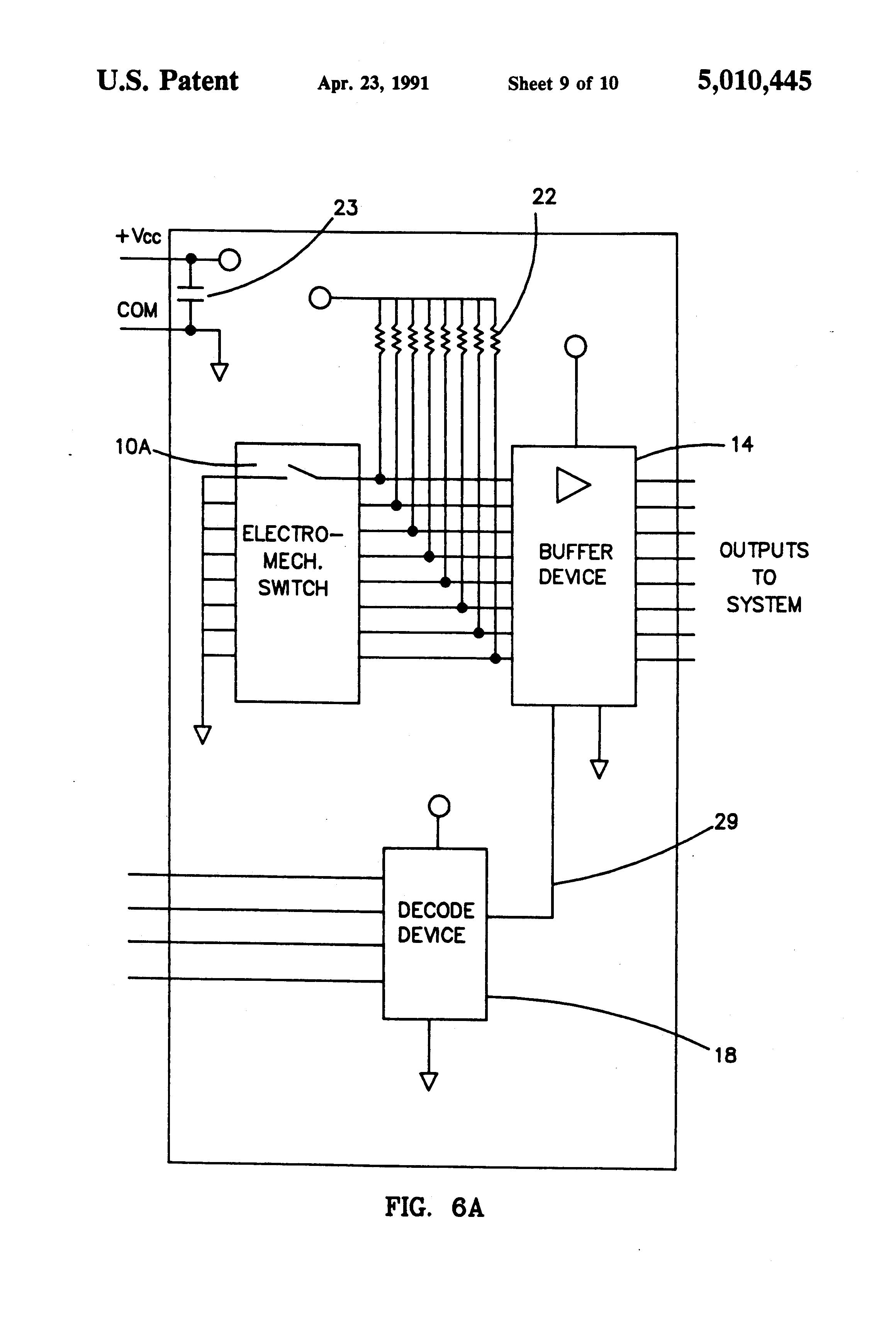 patent us5010445 - dip switch with built-in active interfacing circuitry