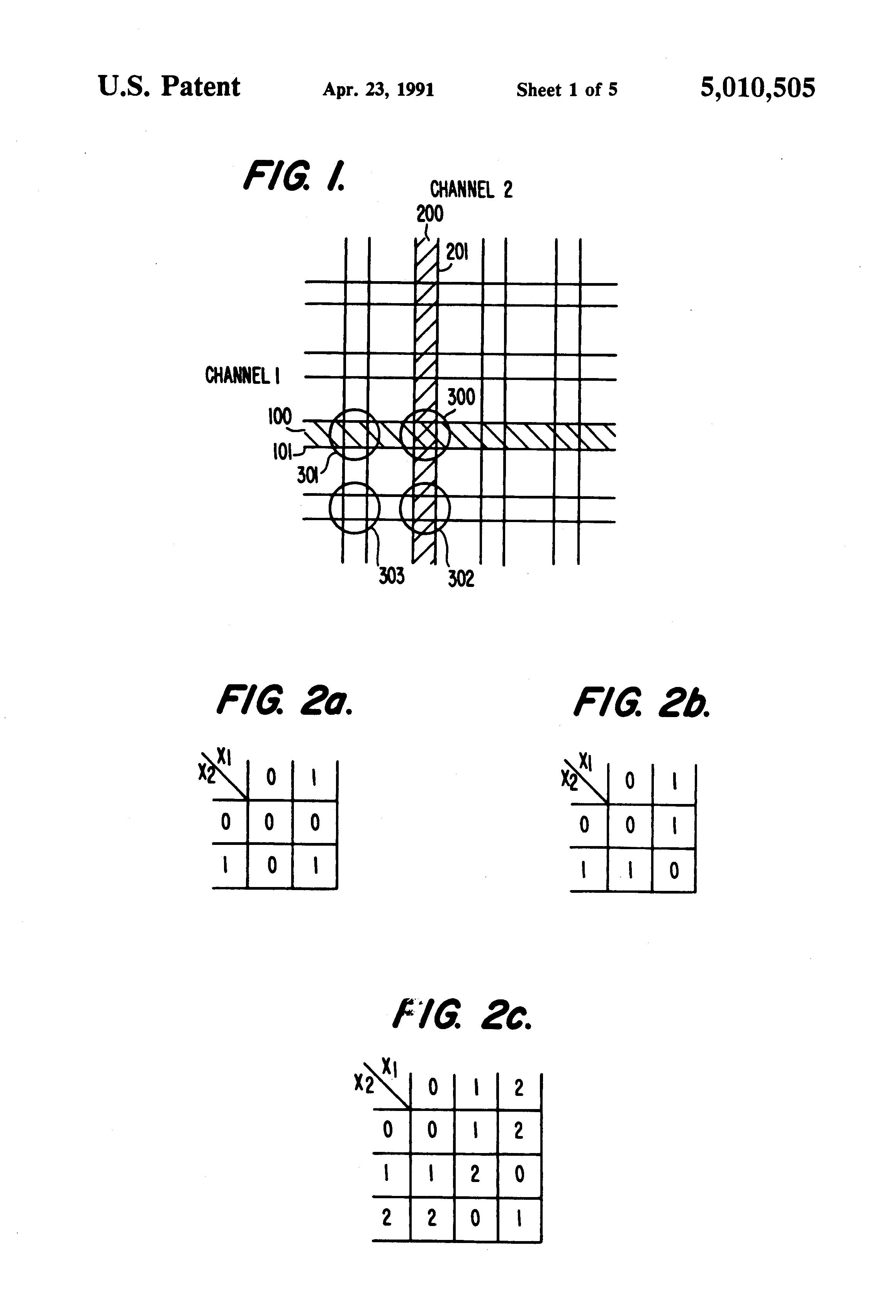 Patent Us5010505 Optical Cross Bar Arithmetic Logic Unit Google Diagram Drawing