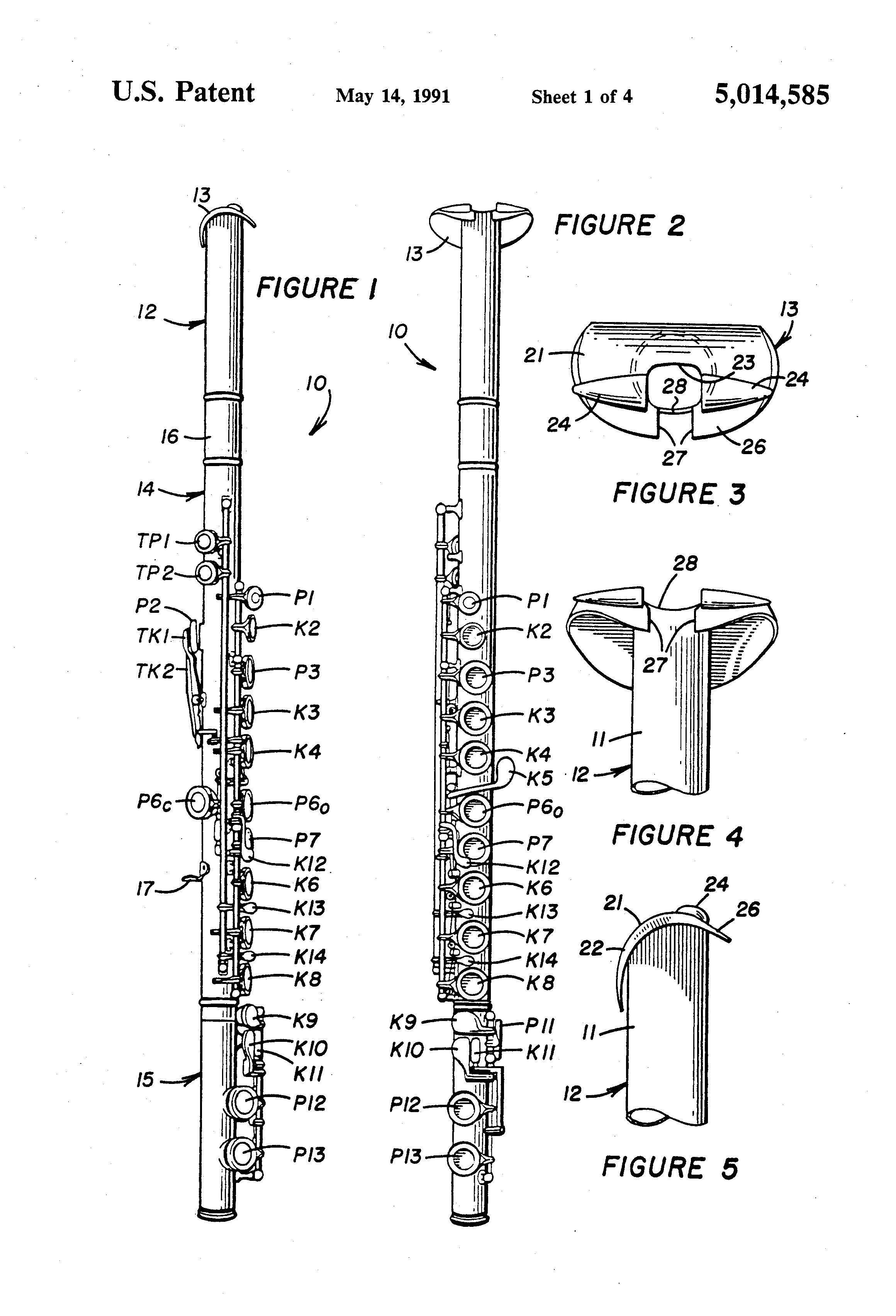 Flute parts diagram