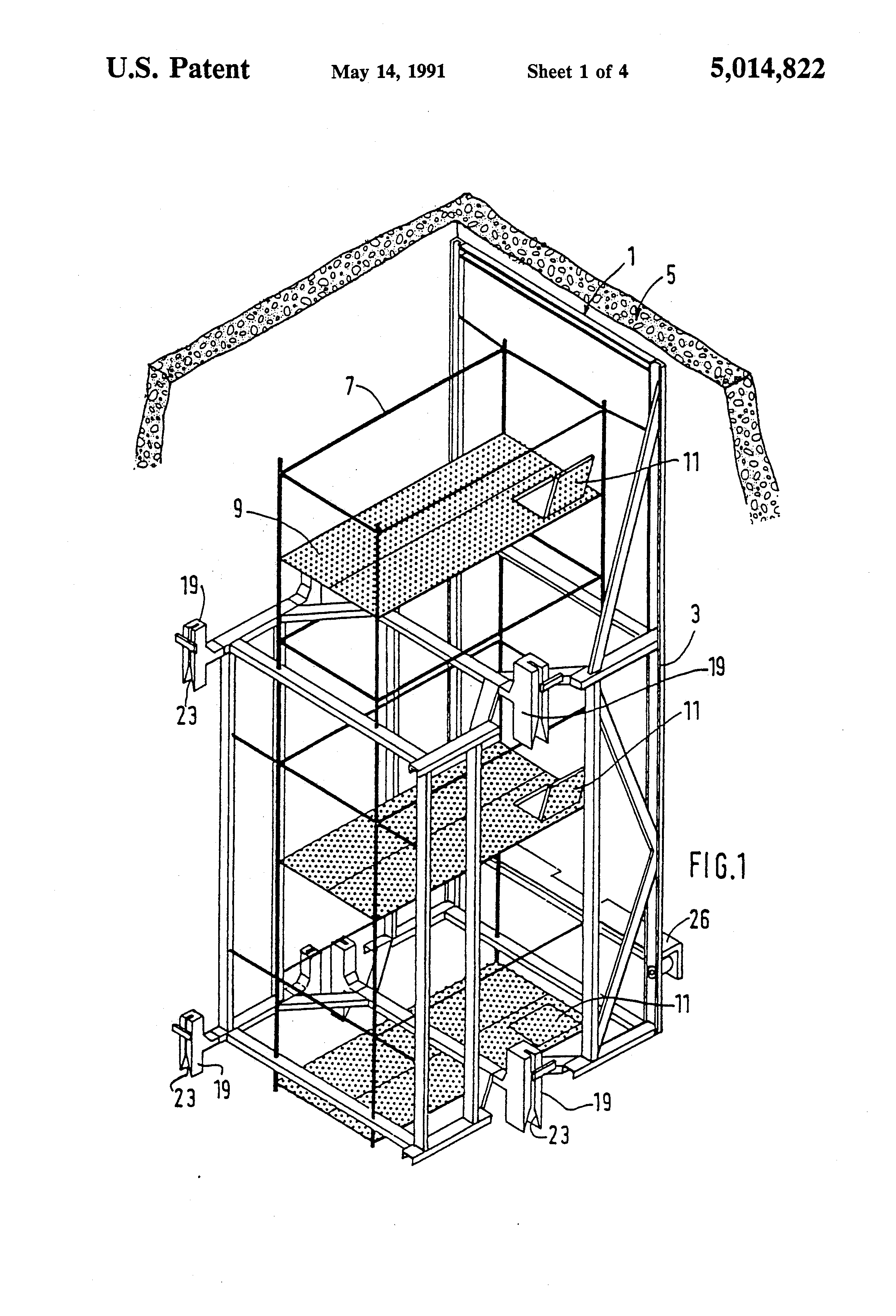 Patent Us5014822 Method For Installing An Elevator