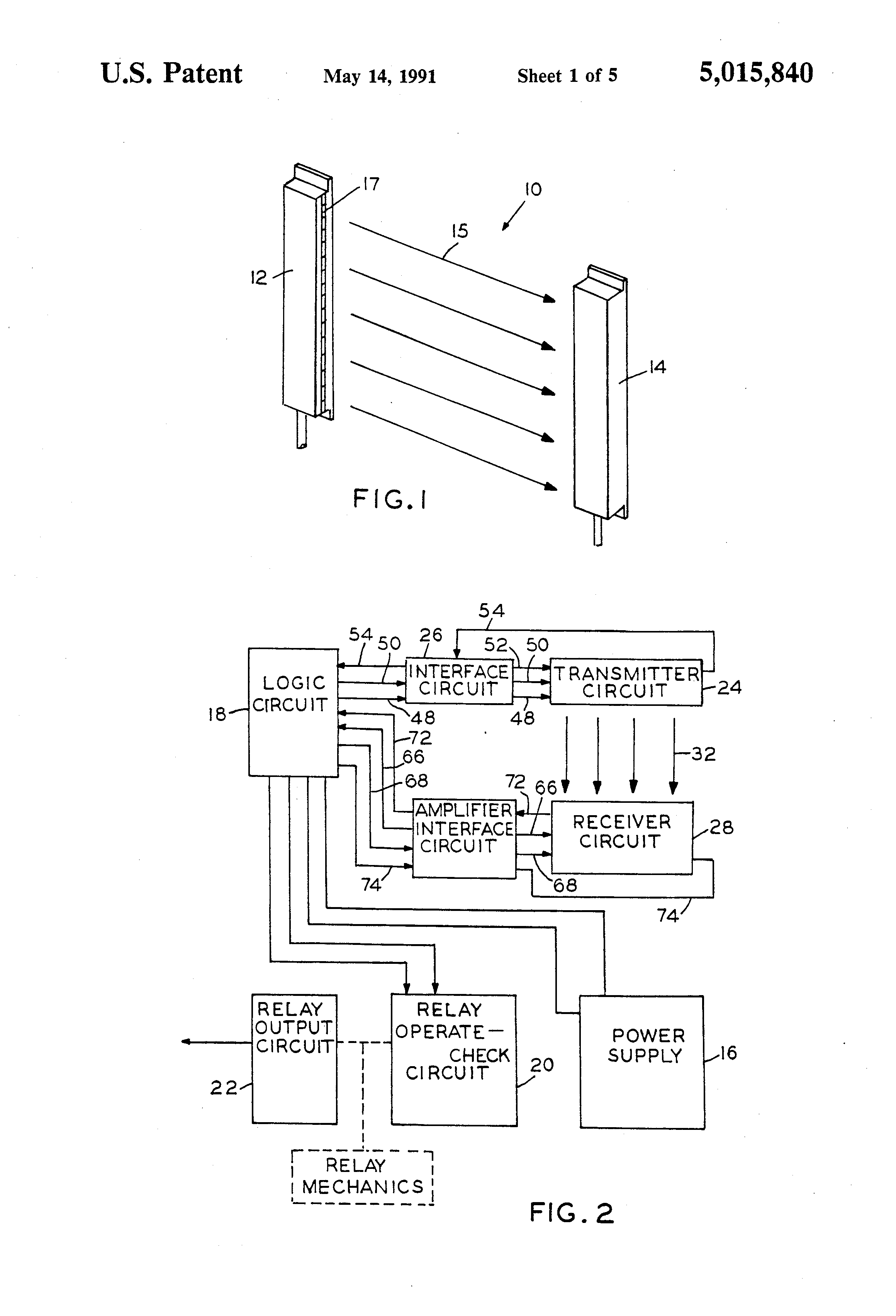 Sick Safety Relay Wiring Diagram 32 Images Electronic Circuits Page 40 Nextgr Us5015840 1 Patent Self Checking Light Curtain System And Method 6024918
