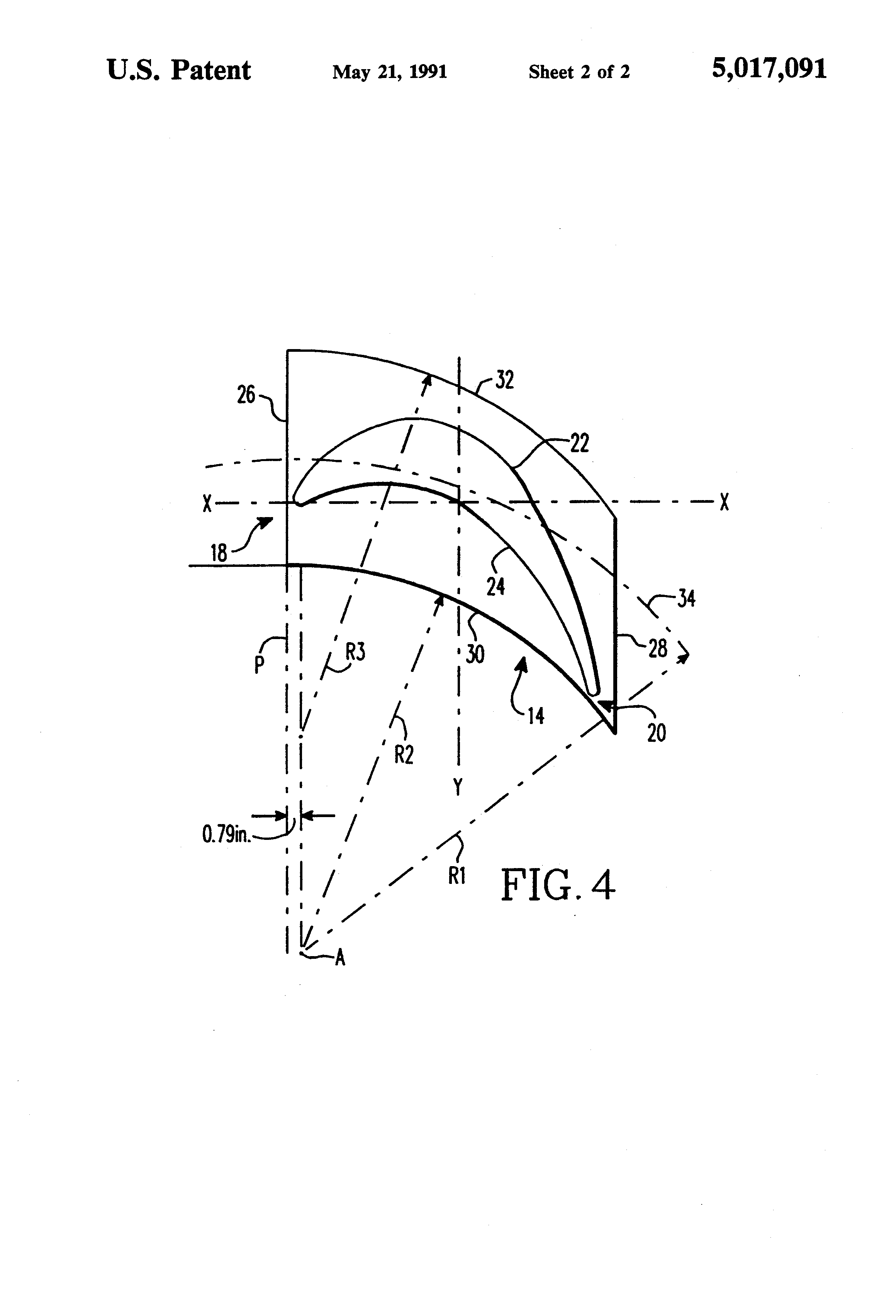 Patent US Free standing blade for use in low pressure