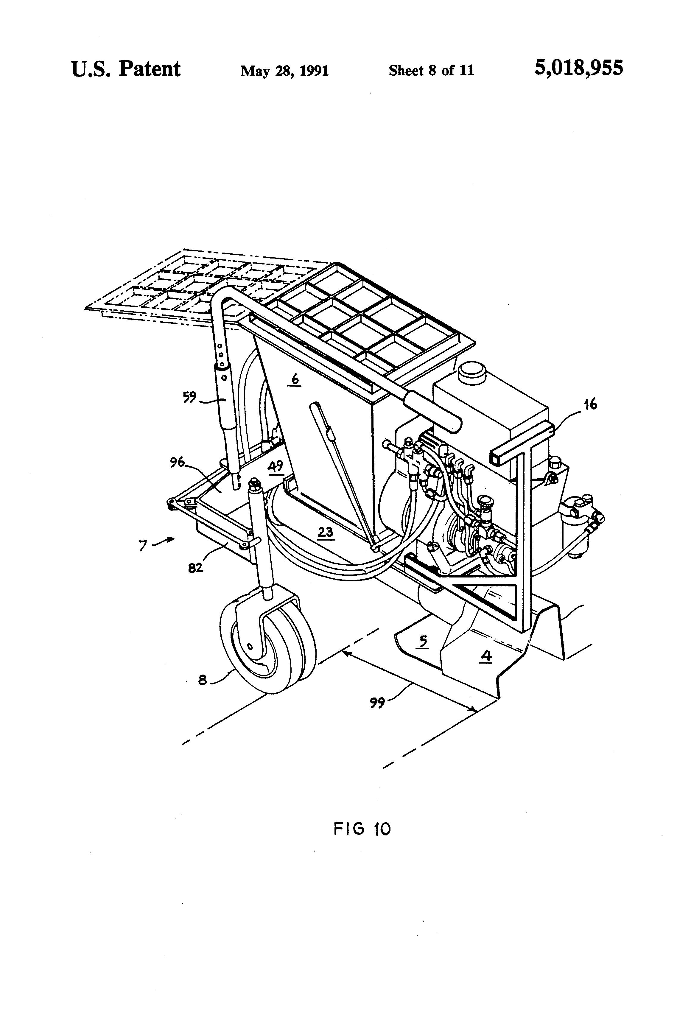decorative curbing machine