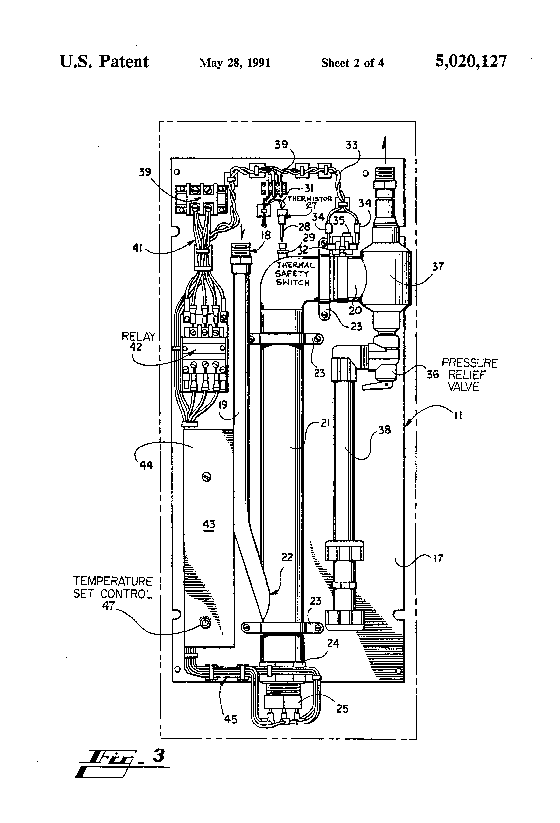 patent us5020127 tankless electric water heater google patents patent drawing