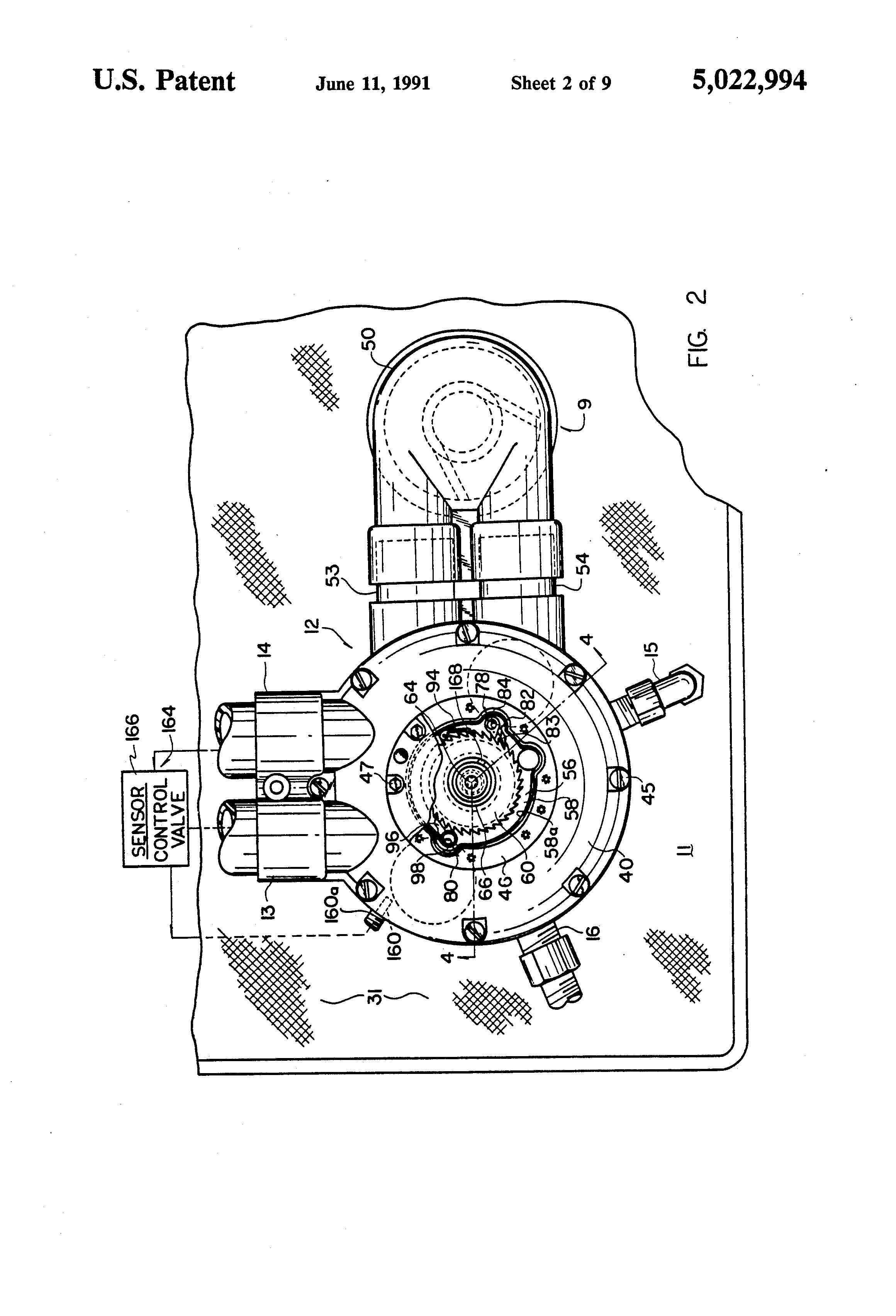 Patent US5022994 Fluid treatment system Google Patents