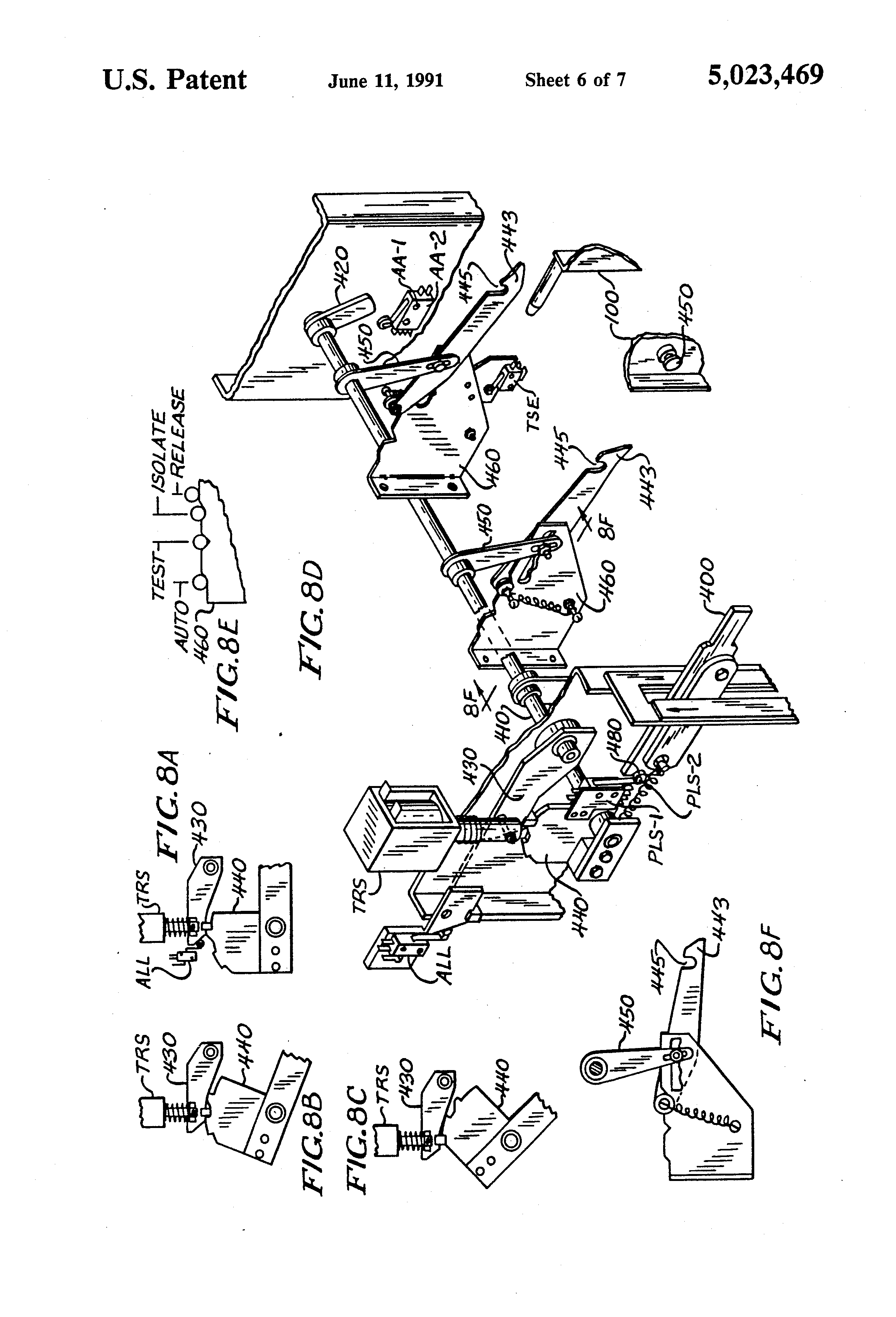 patent us5023469  isolation