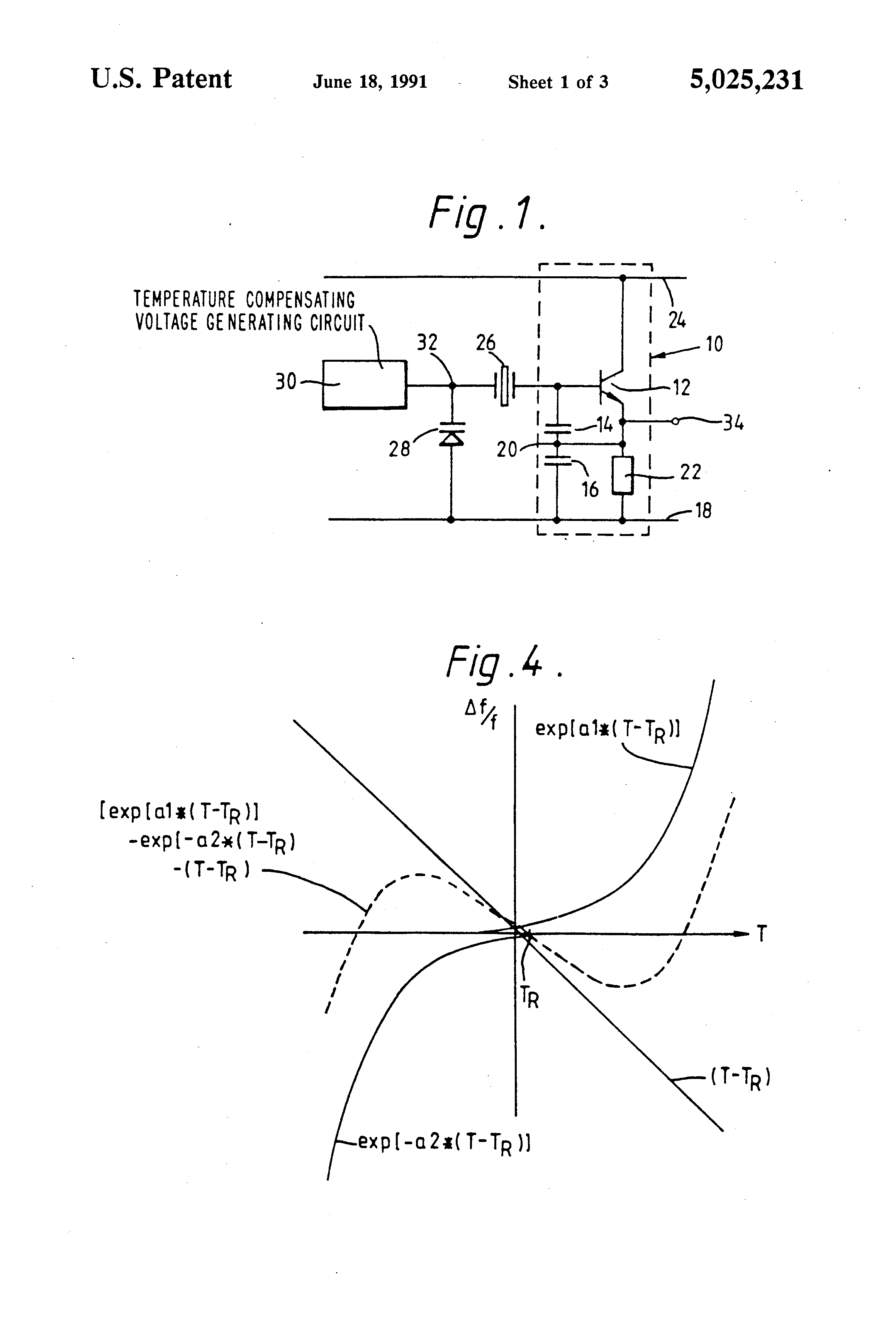 Brevet Us5025231 Temperature Controlled Crystal Oscillator Circuit Circuits Patent Drawing