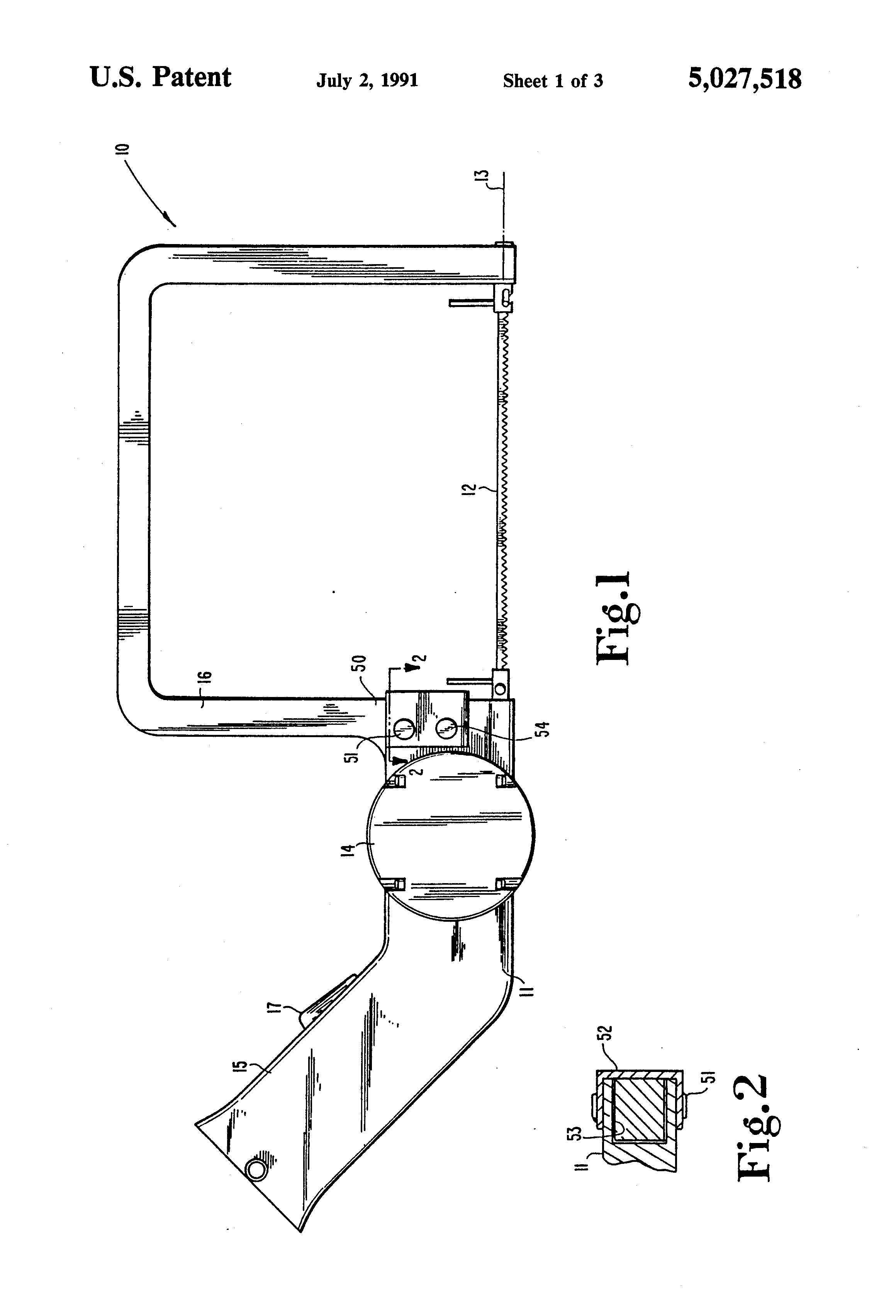 Patent US5027518 - Battery operated coping saw - Google ...
