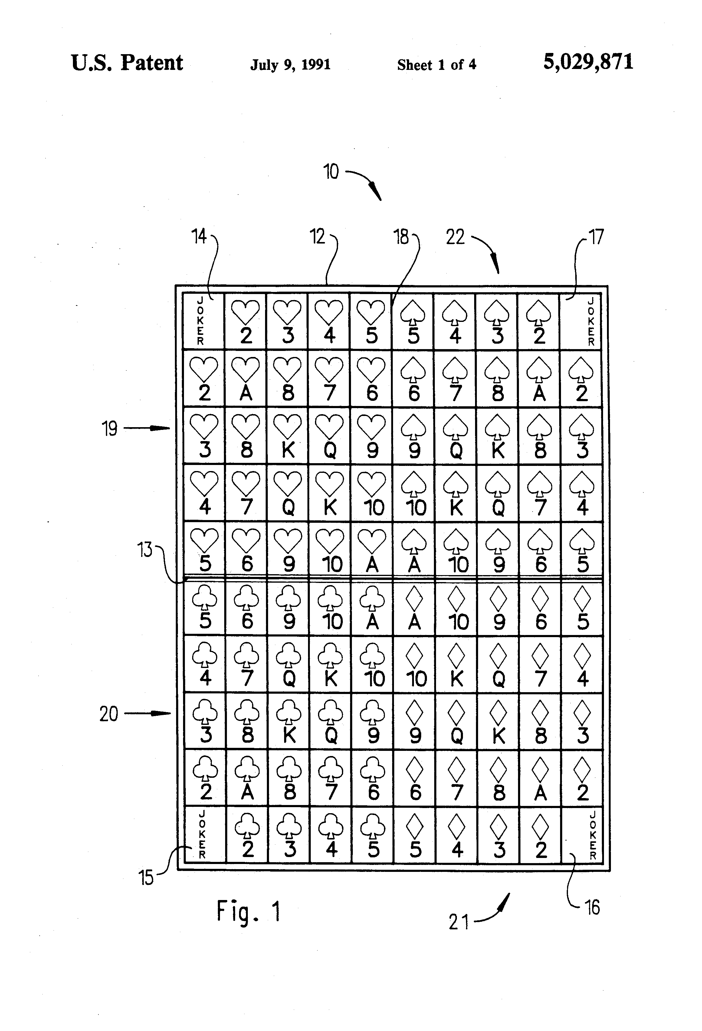 patent us5029871 - sequence board game