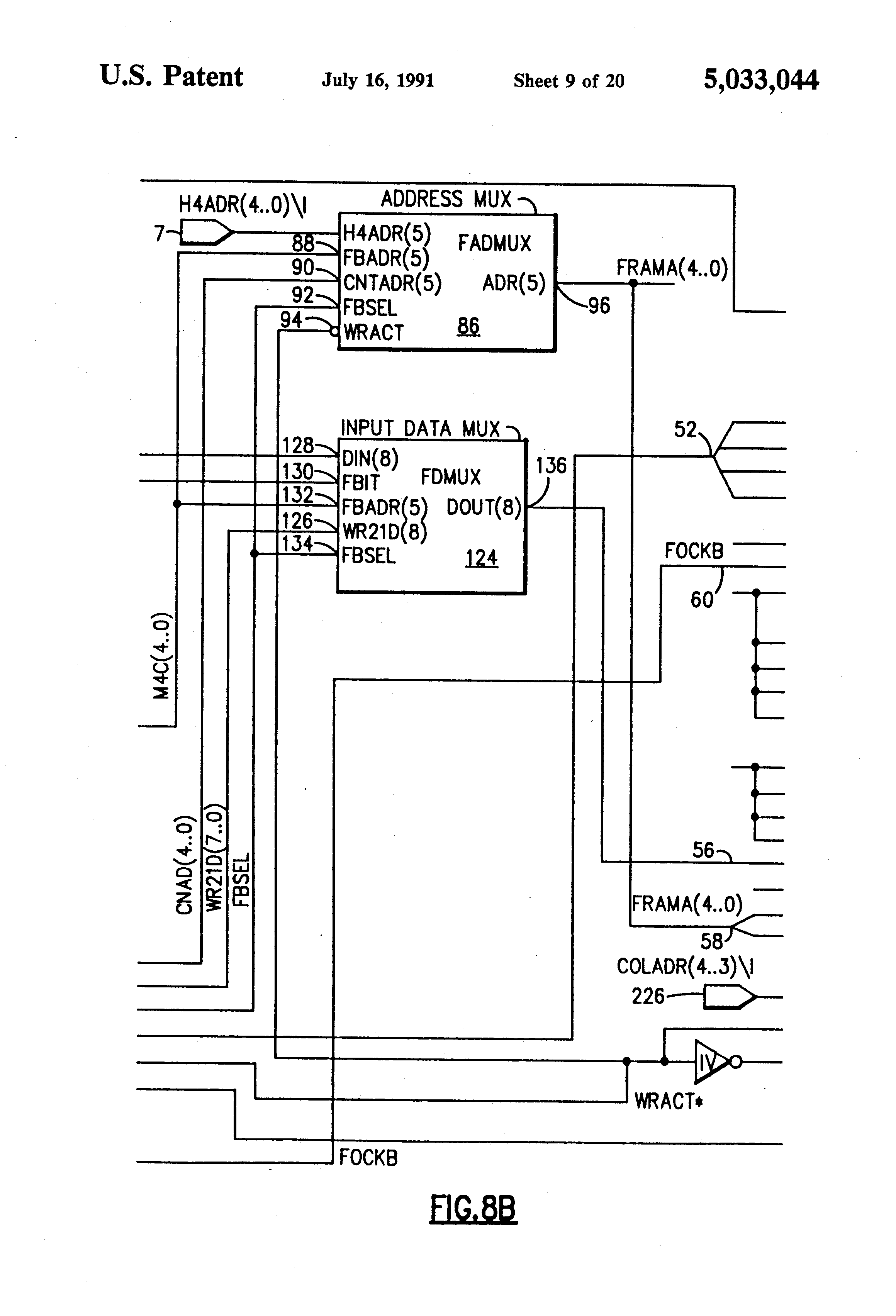 Patent Us5033044 System For Aligning Transmission Facility Framing Figure 7 4x1 Multiplexer With 2x4 Decoder Selector Circuit Diagram Drawing