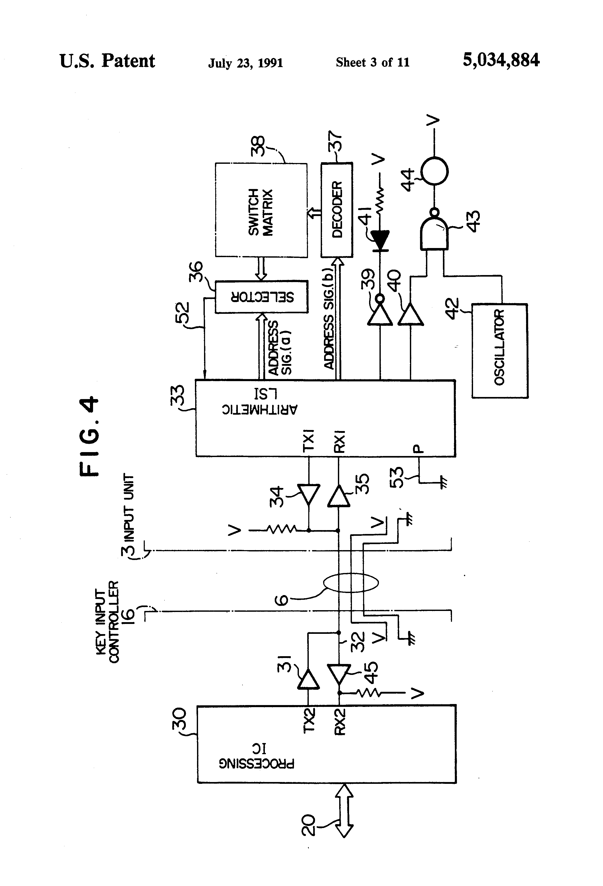 Patent Us5034884 System Providing Key Scan Address Extraction Keyscan Wiring Diagram Drawing