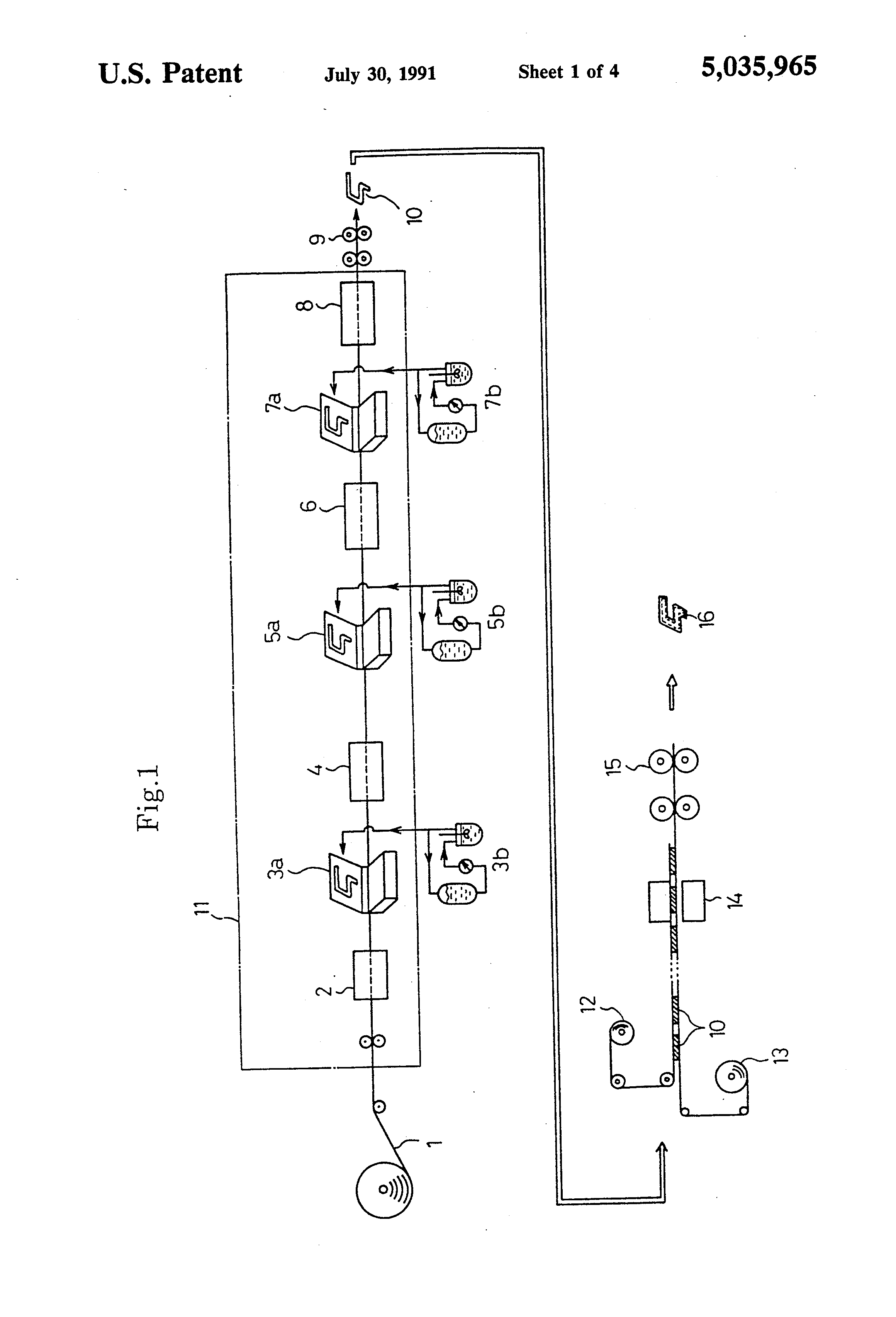 patent us5035965 - printed circuit board having a thin film cell incorporated therein