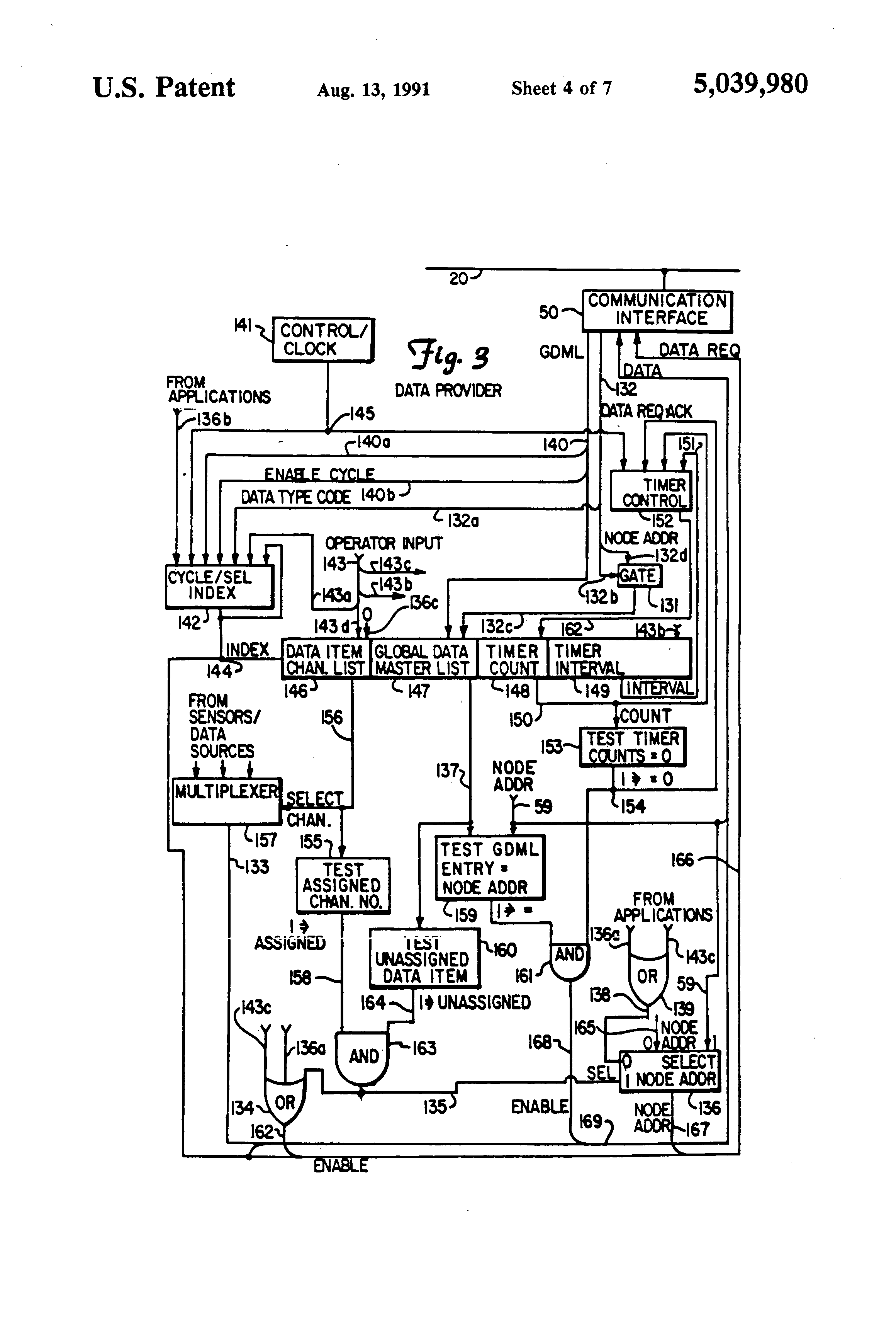 US5039980 4 patent us5039980 multi nodal communication network with true gdm 23 wiring diagram at bayanpartner.co