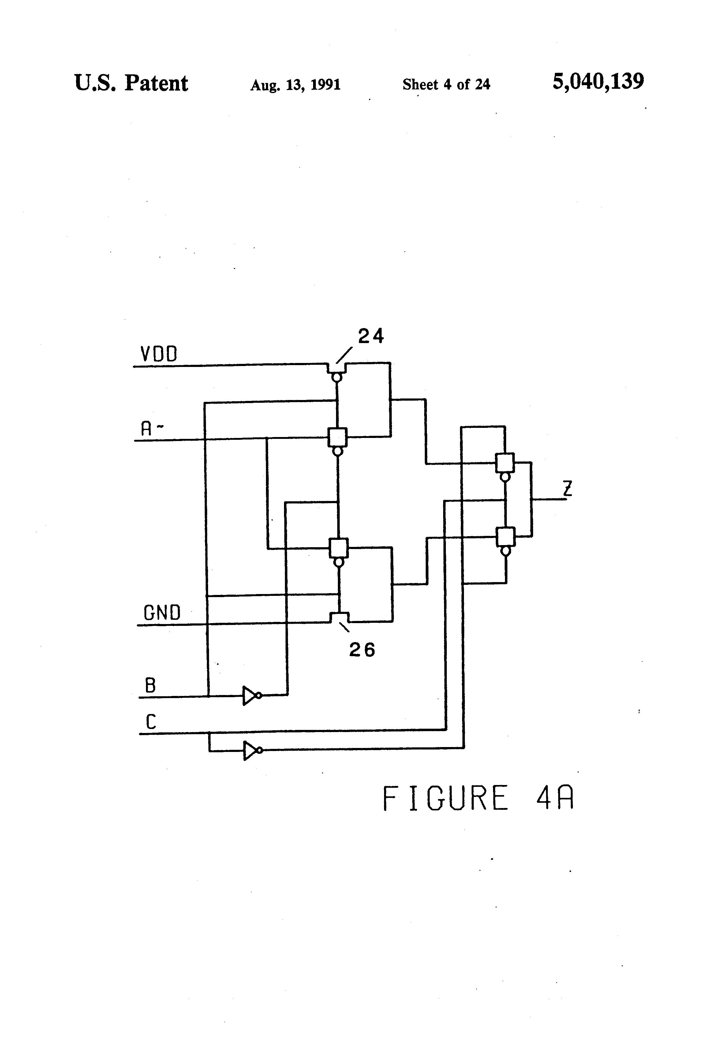 Patent Us5040139 Transmission Gate Multiplexer Tgm Logic Not Transistor Circuit Drawing