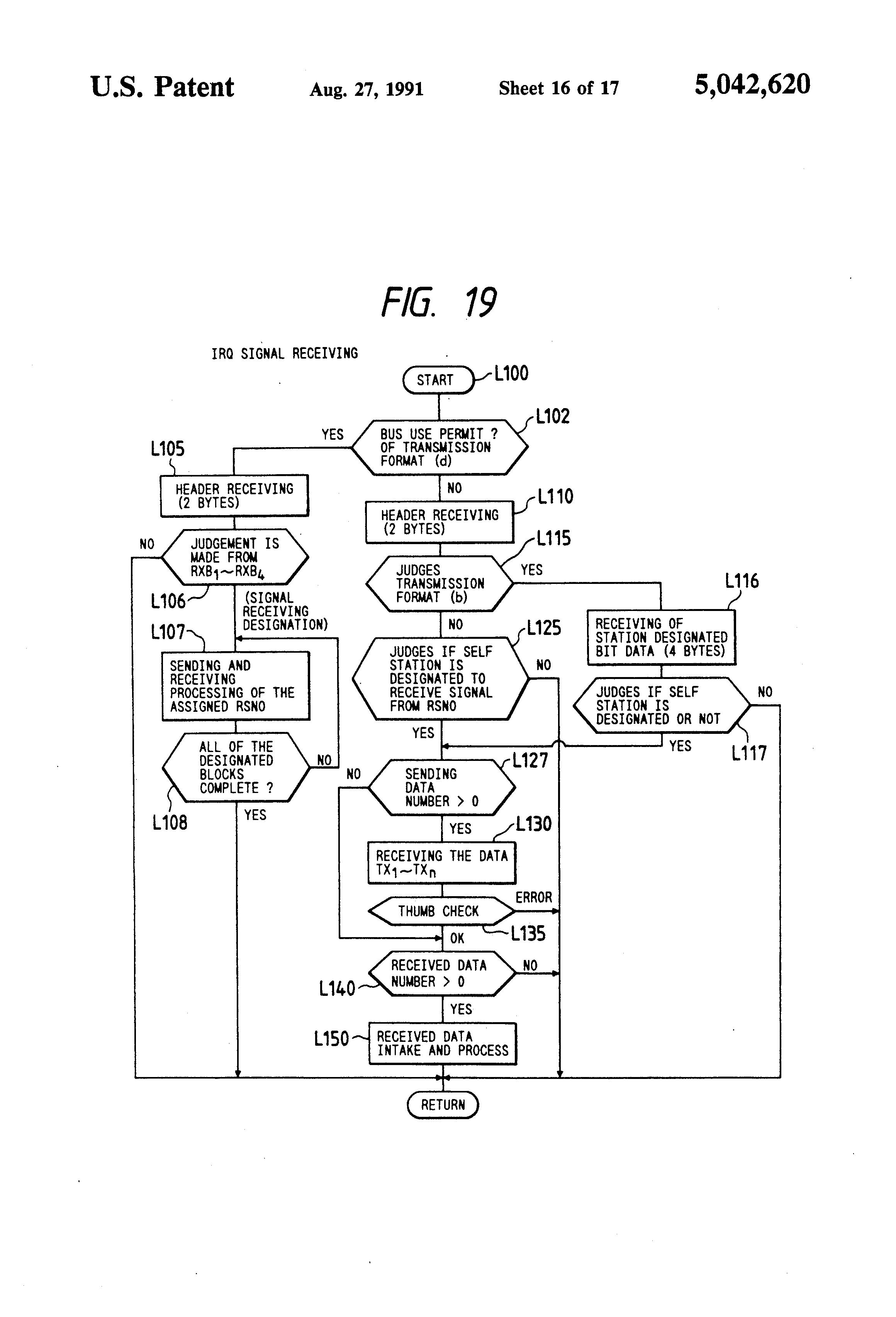 patent us5042620 - elevator control system