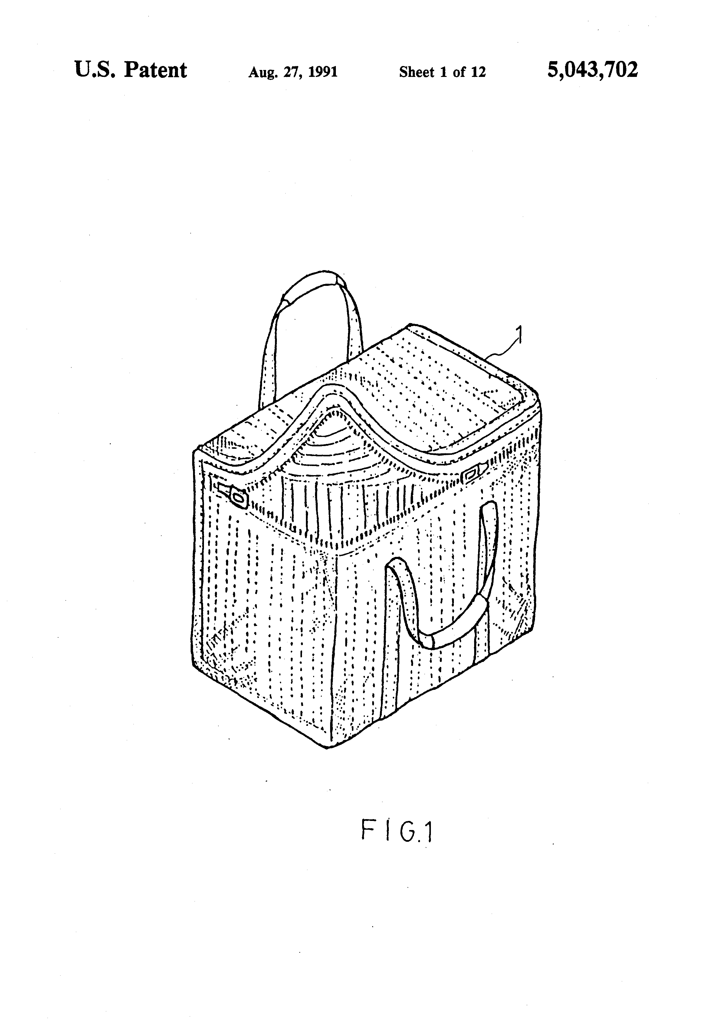Patent Us5043702 Luggage With Alarm Device Google Patents Security Schematic Drawing