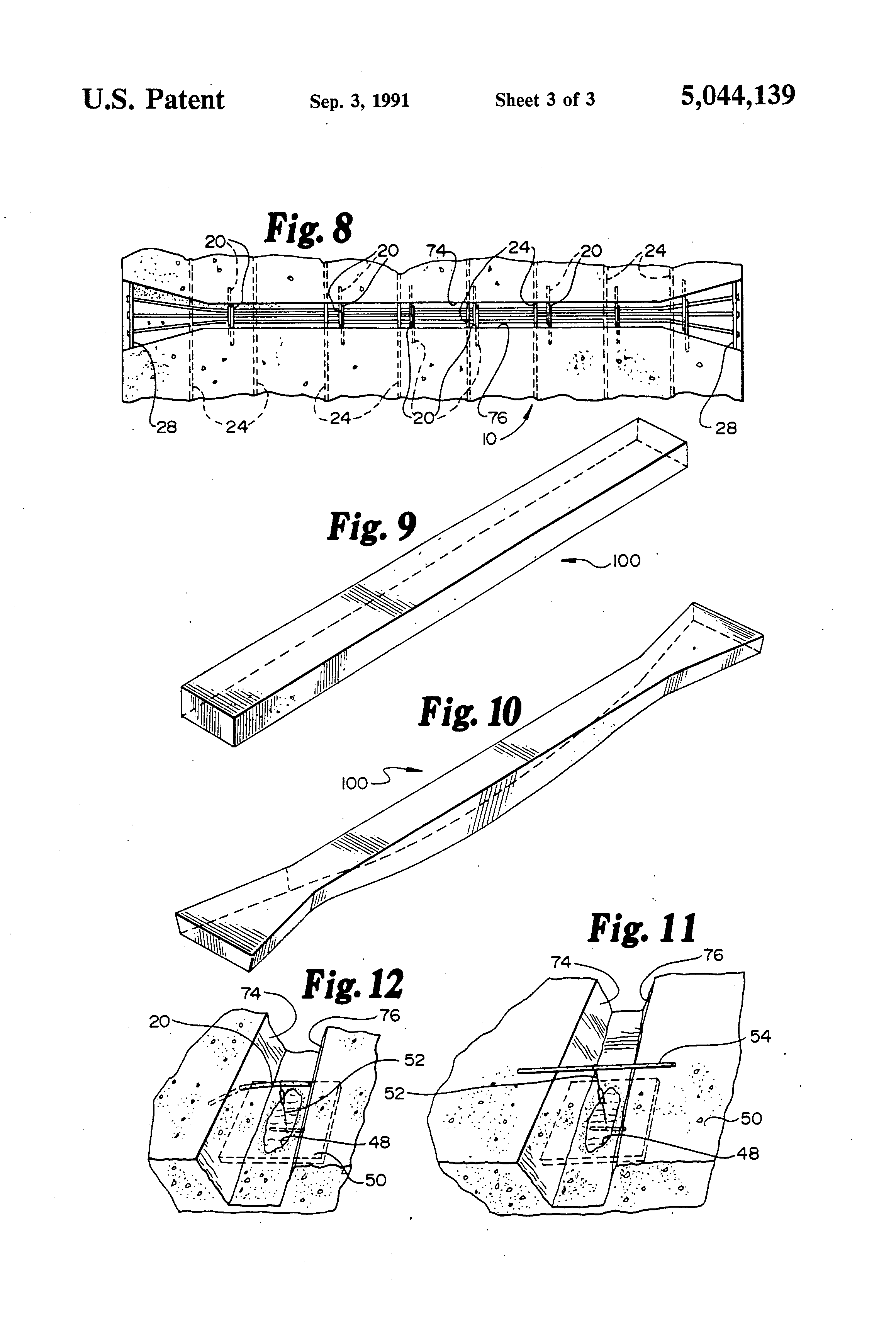 Patent us method of replacing post tensioned