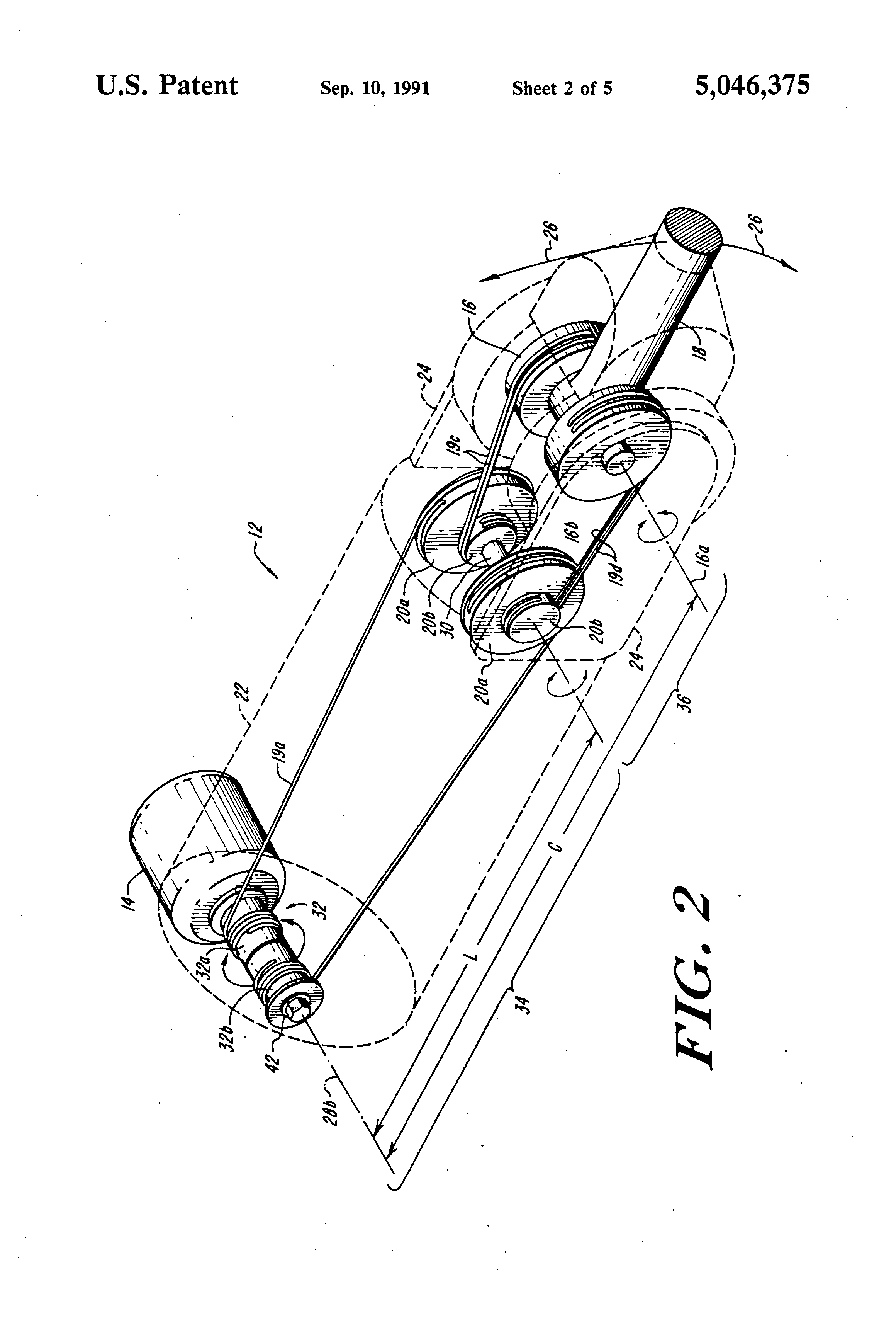 Patent Us5046375 Compact Cable Transmission With 2 Ecotec Engine Diagram Drawing