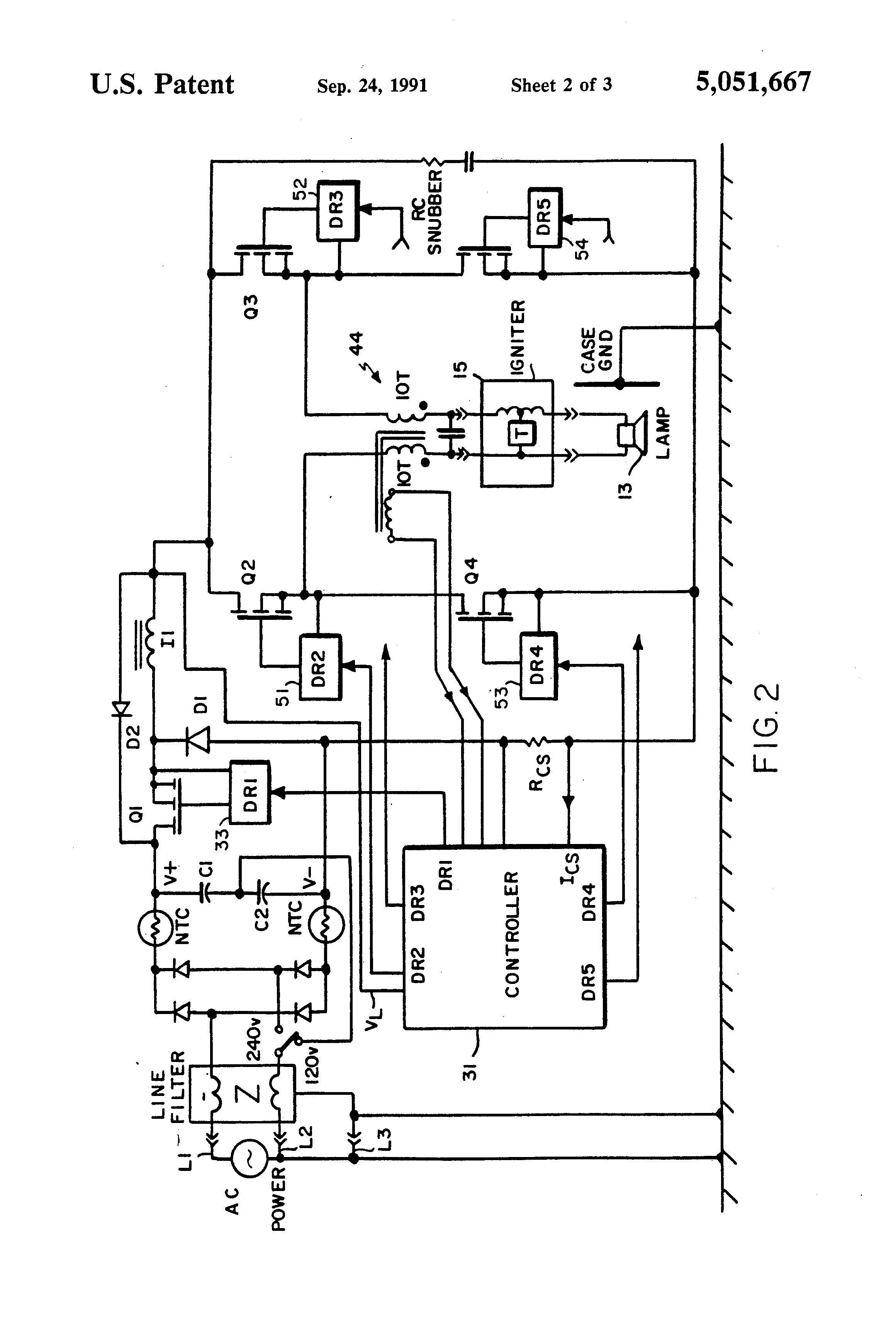 helvar electronic ballast wiring diagram wiring diagrams patent us5051667 arc interrupting l ballast google patents philips advance ballast wiring diagram t5 454