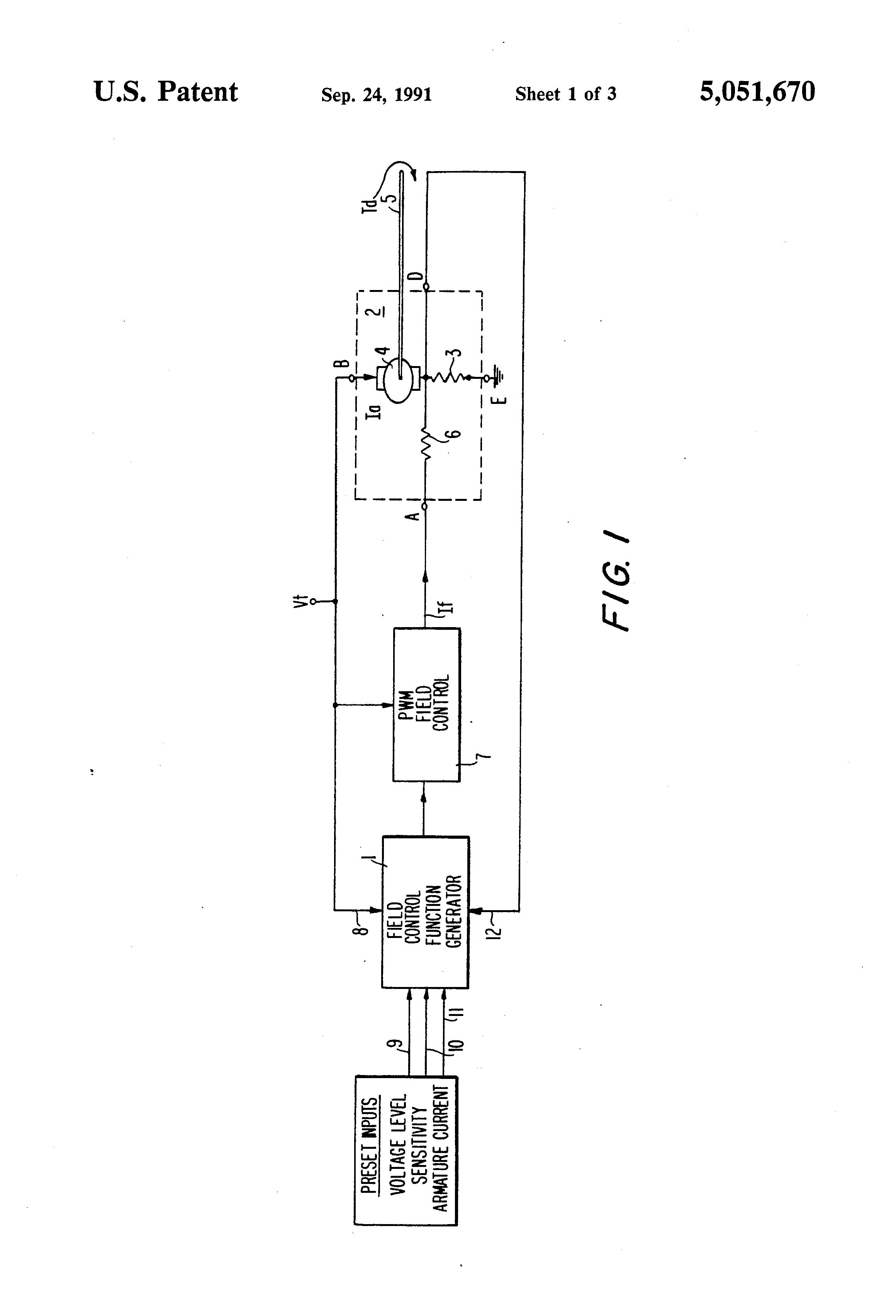 Patent Us5051670 Aircraft Dc Starter Generator Torque Controller Discrete Pwm Circuit Drawing
