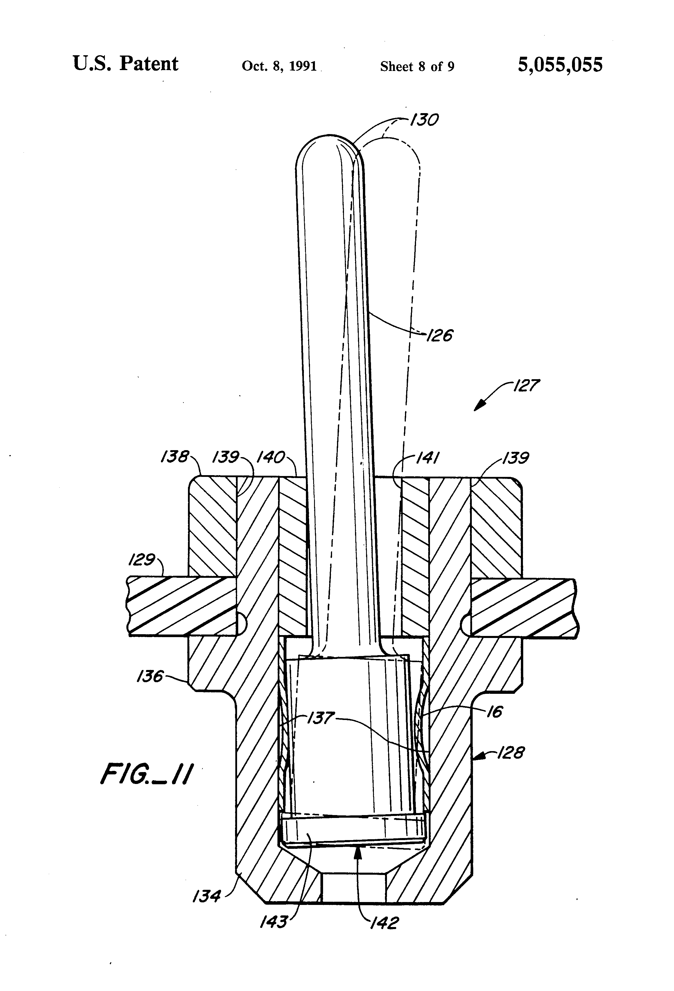 patent us5055055 - circuit board connector system