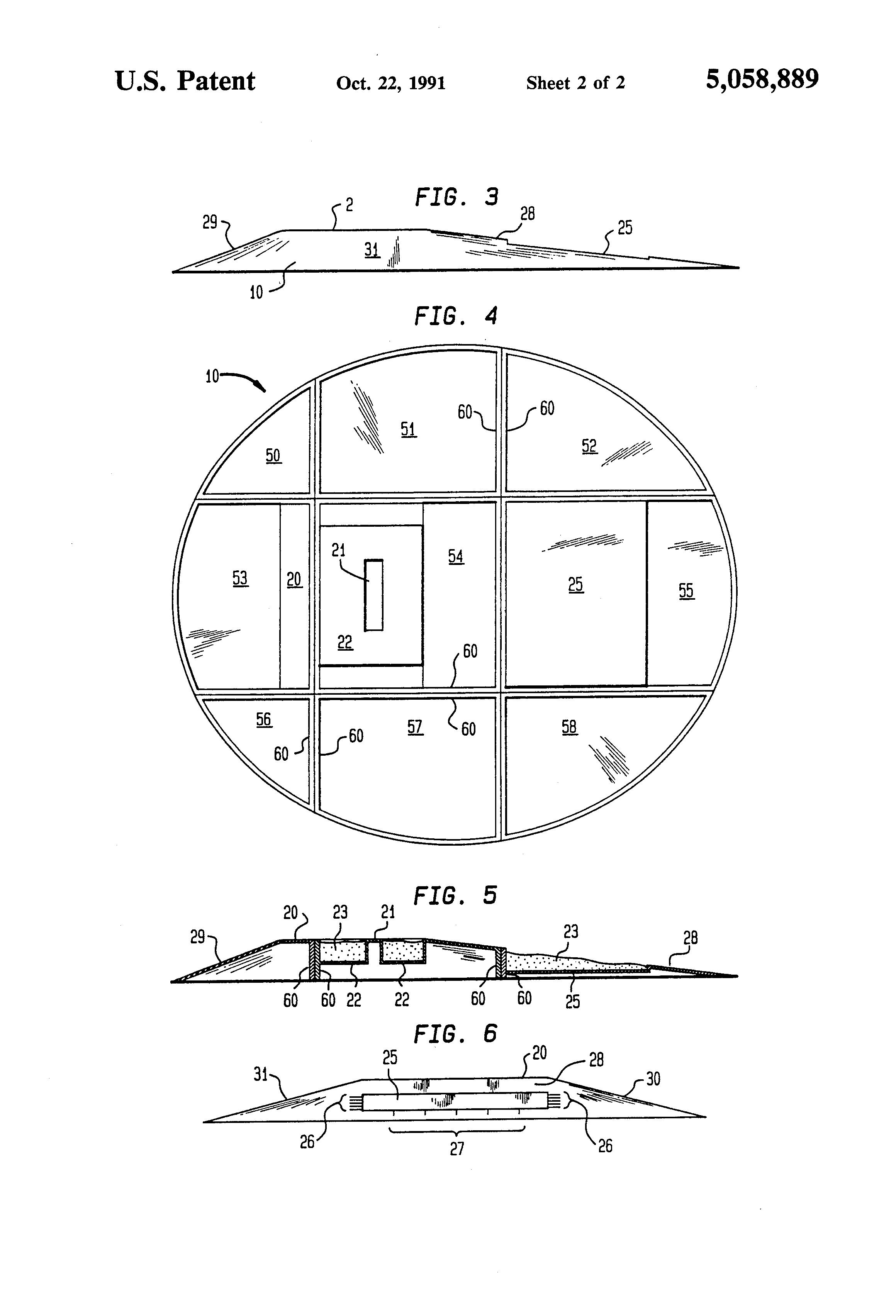 Patent Us5058889 Molded Fiberglass Pitcher S Portable Indoor
