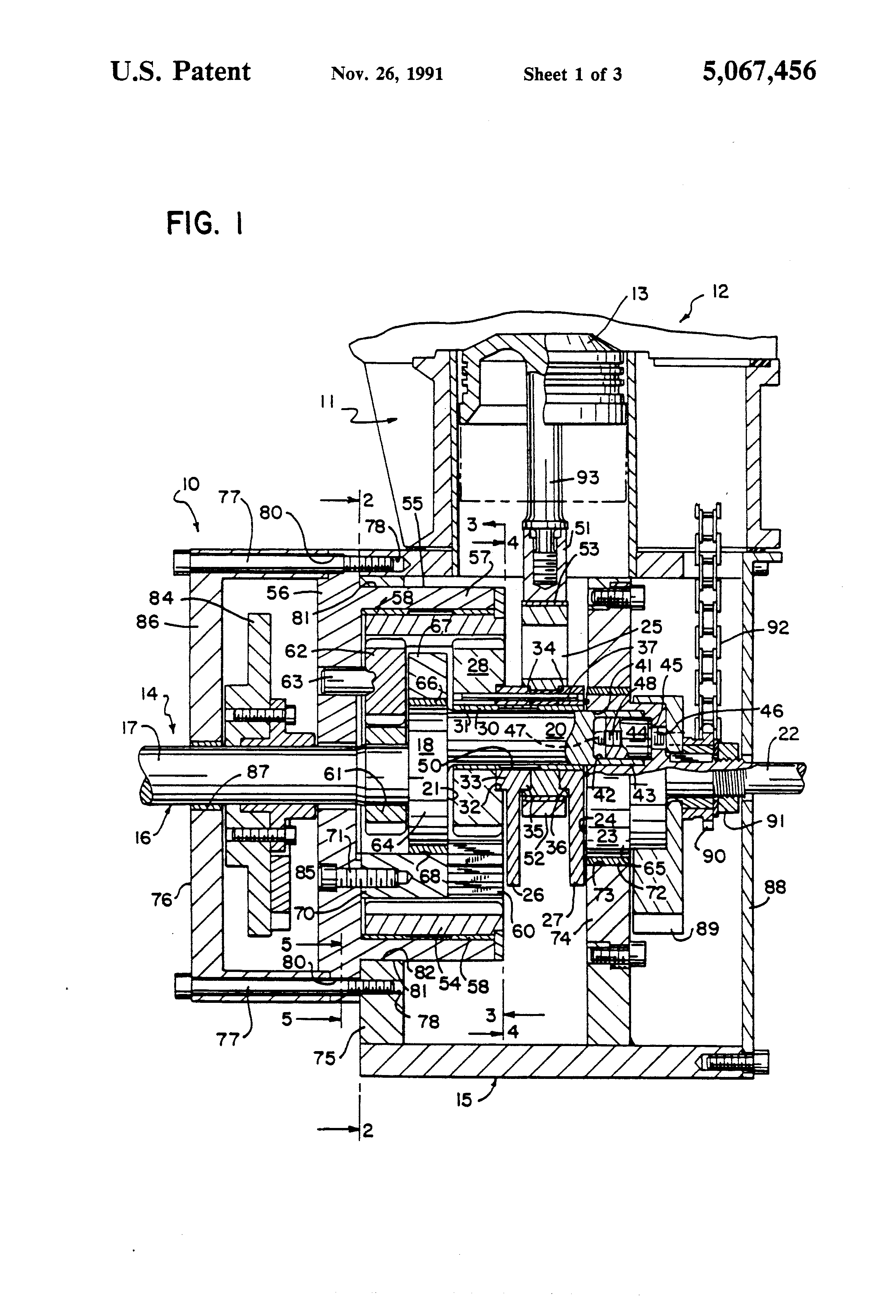 patent us5067456 hypocycloid engine google patents patent drawing