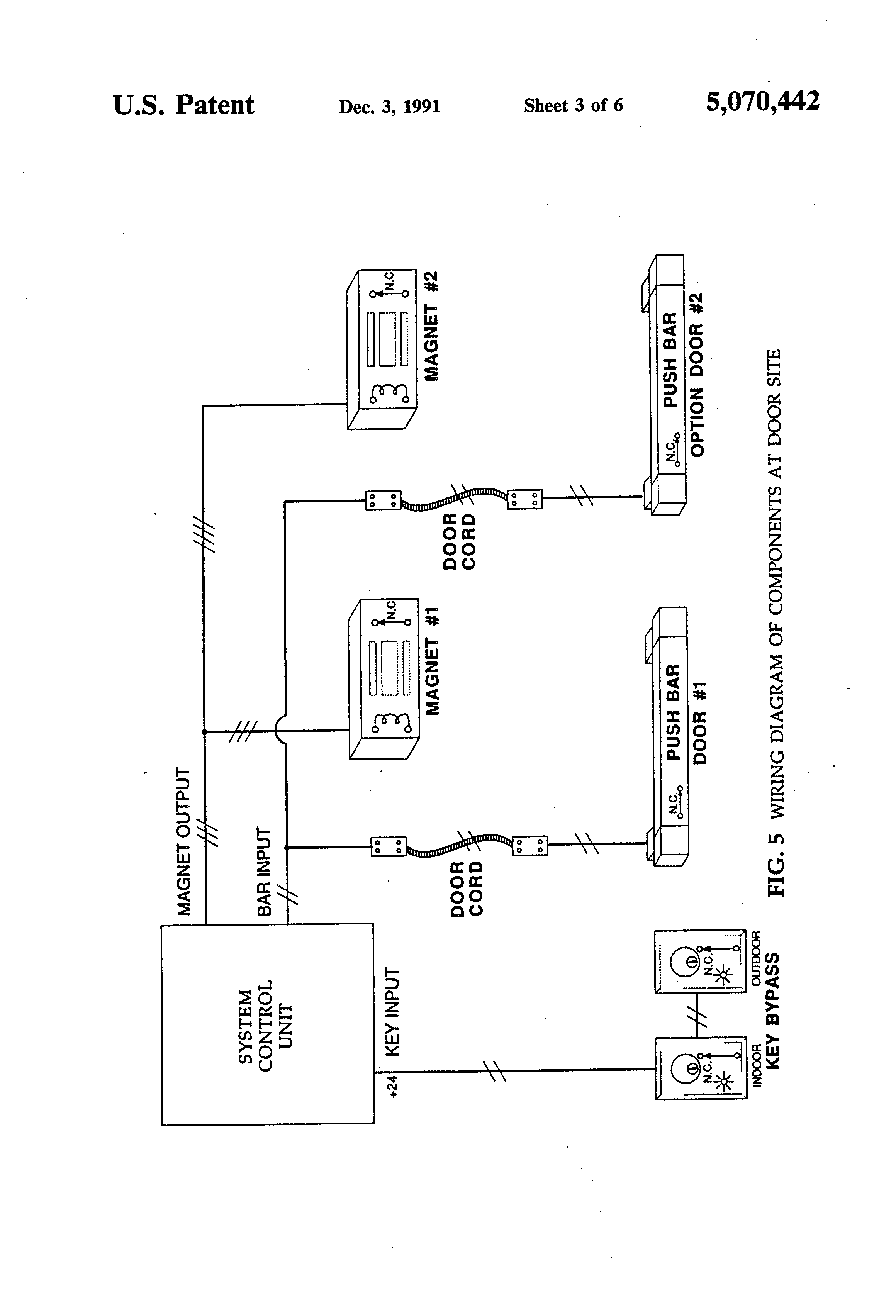 patent us computerized door locking and monitoring system patent drawing