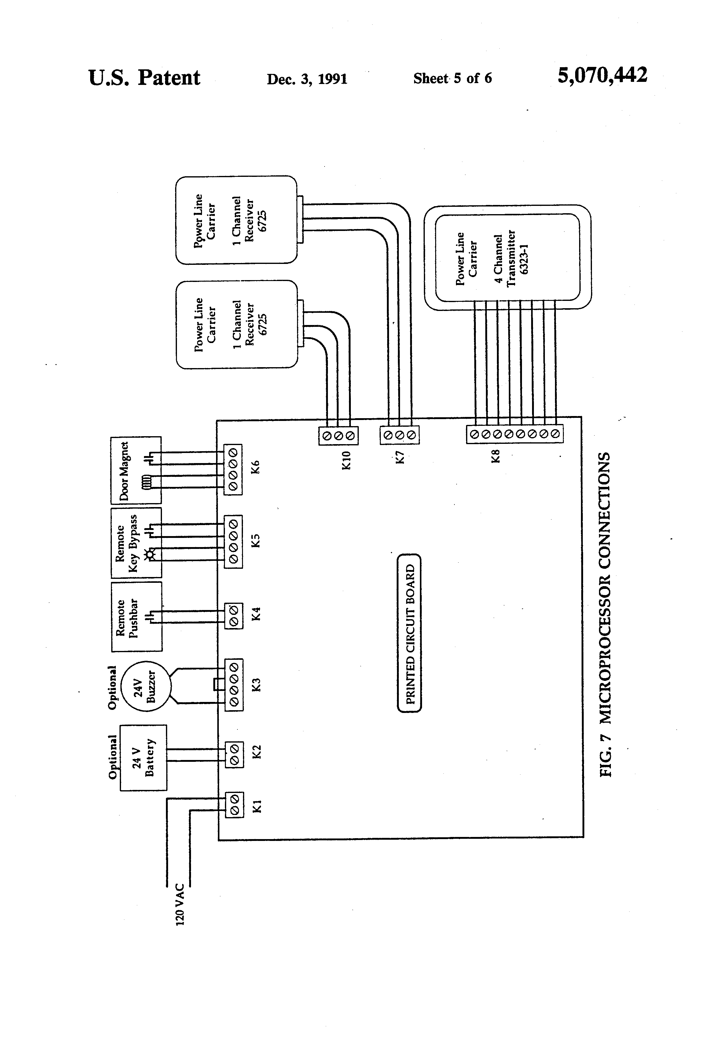 US5070442 5 patent us5070442 computerized door locking and monitoring system Schematic Circuit Diagram at gsmx.co