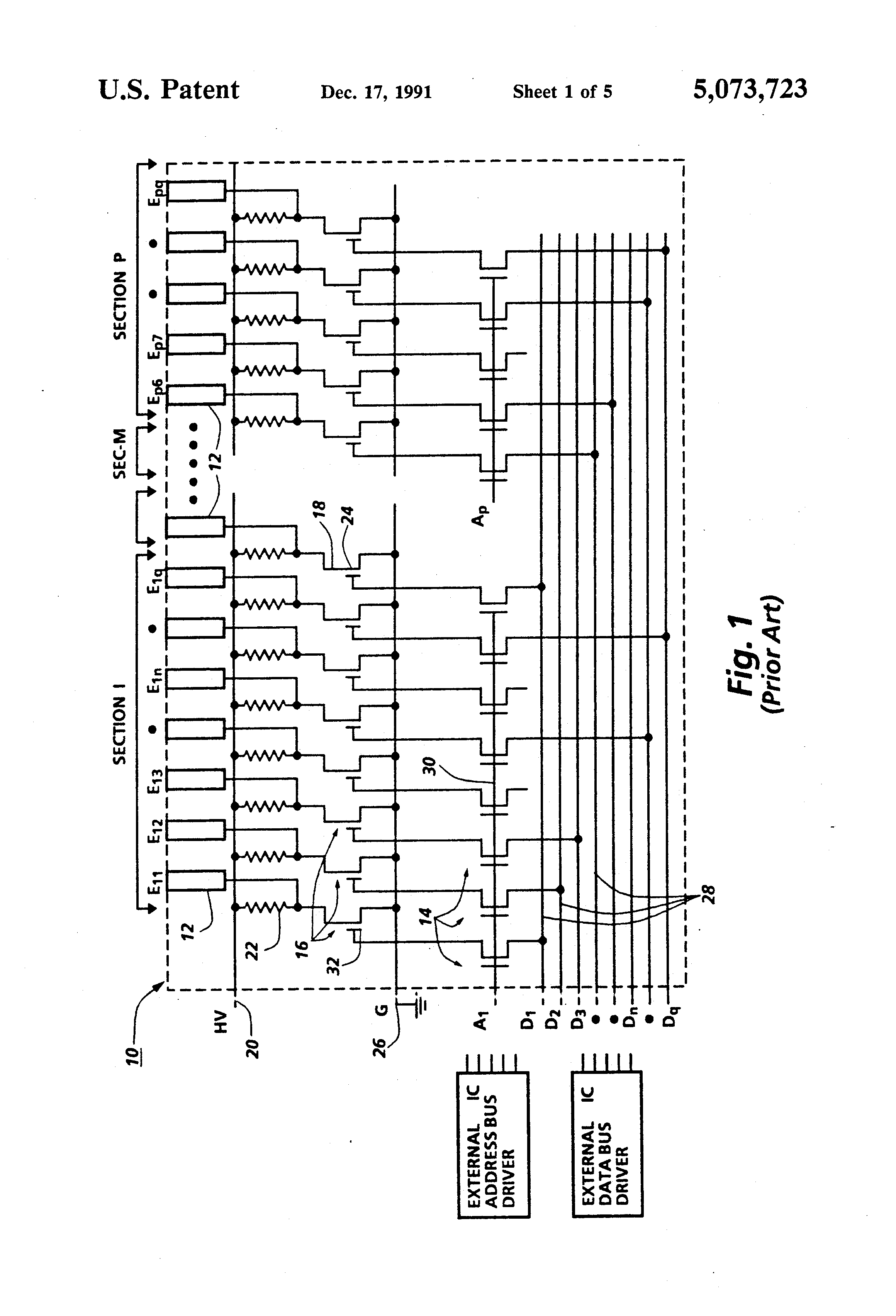 Brevet Us5073723 Space Charge Current Limited Shunt In A Cascode Differential Circuit And Driver Patent Drawing