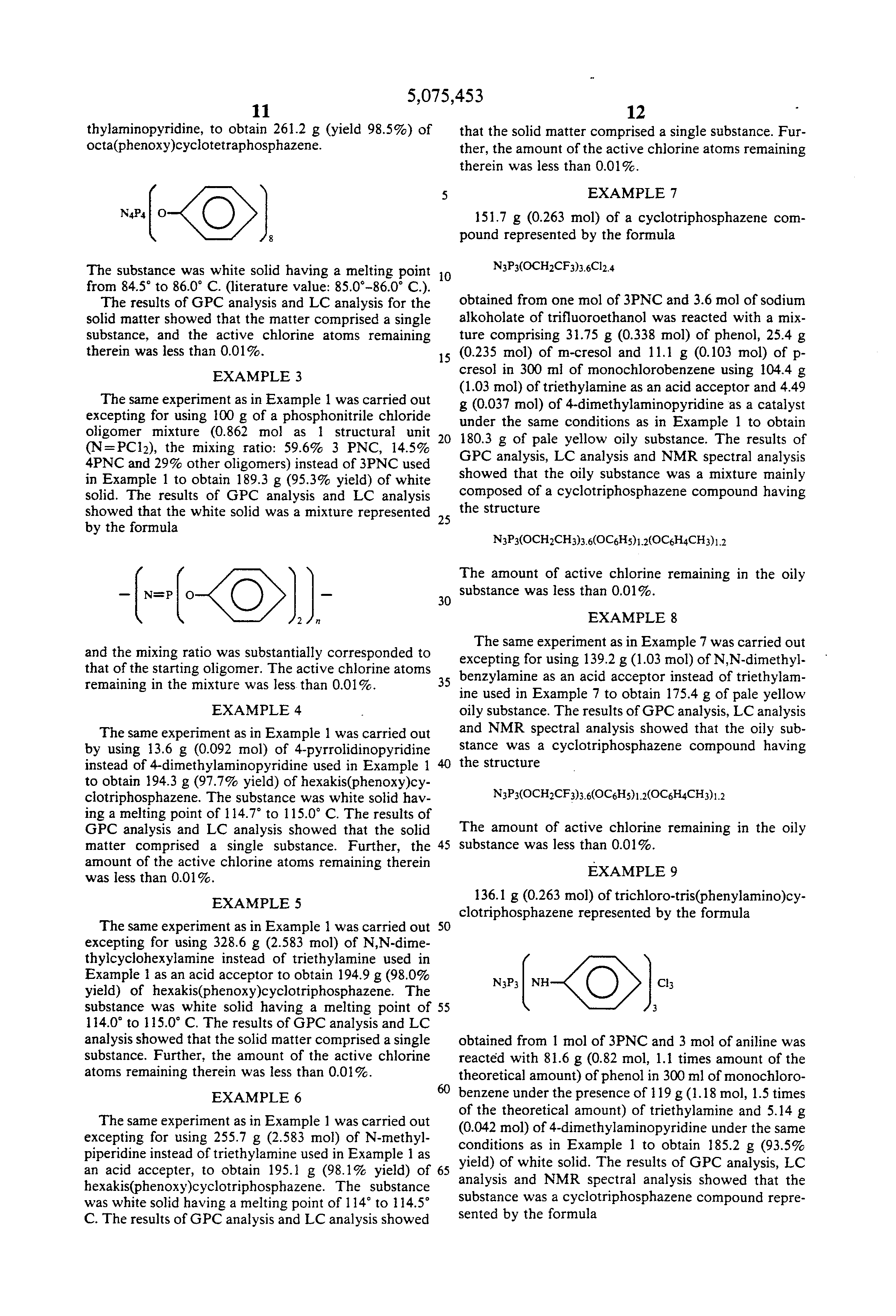 Patent US5075453 - Process for producing aryloxy-substituted ...