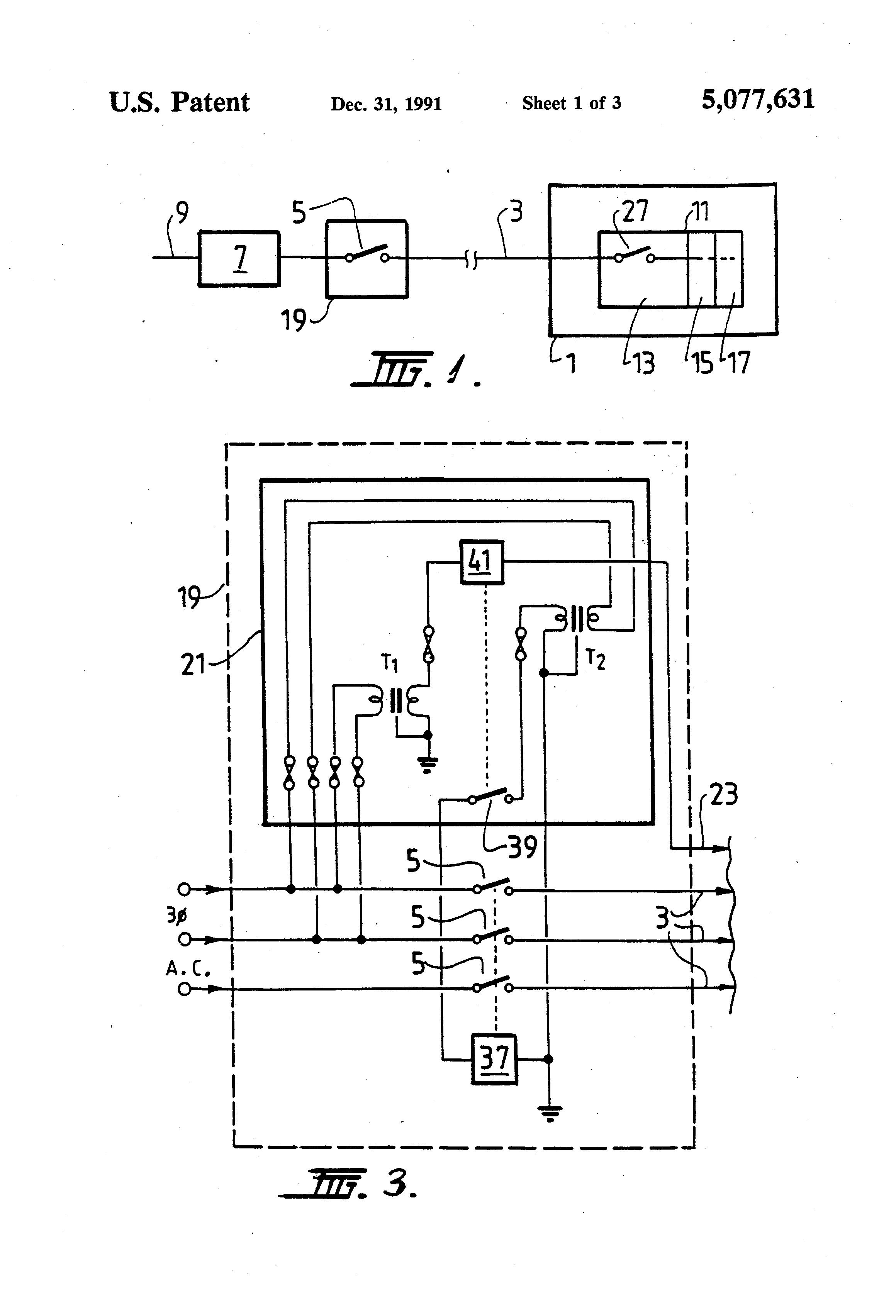 patent us5077631 - electrical door interlock system and method, Circuit diagram