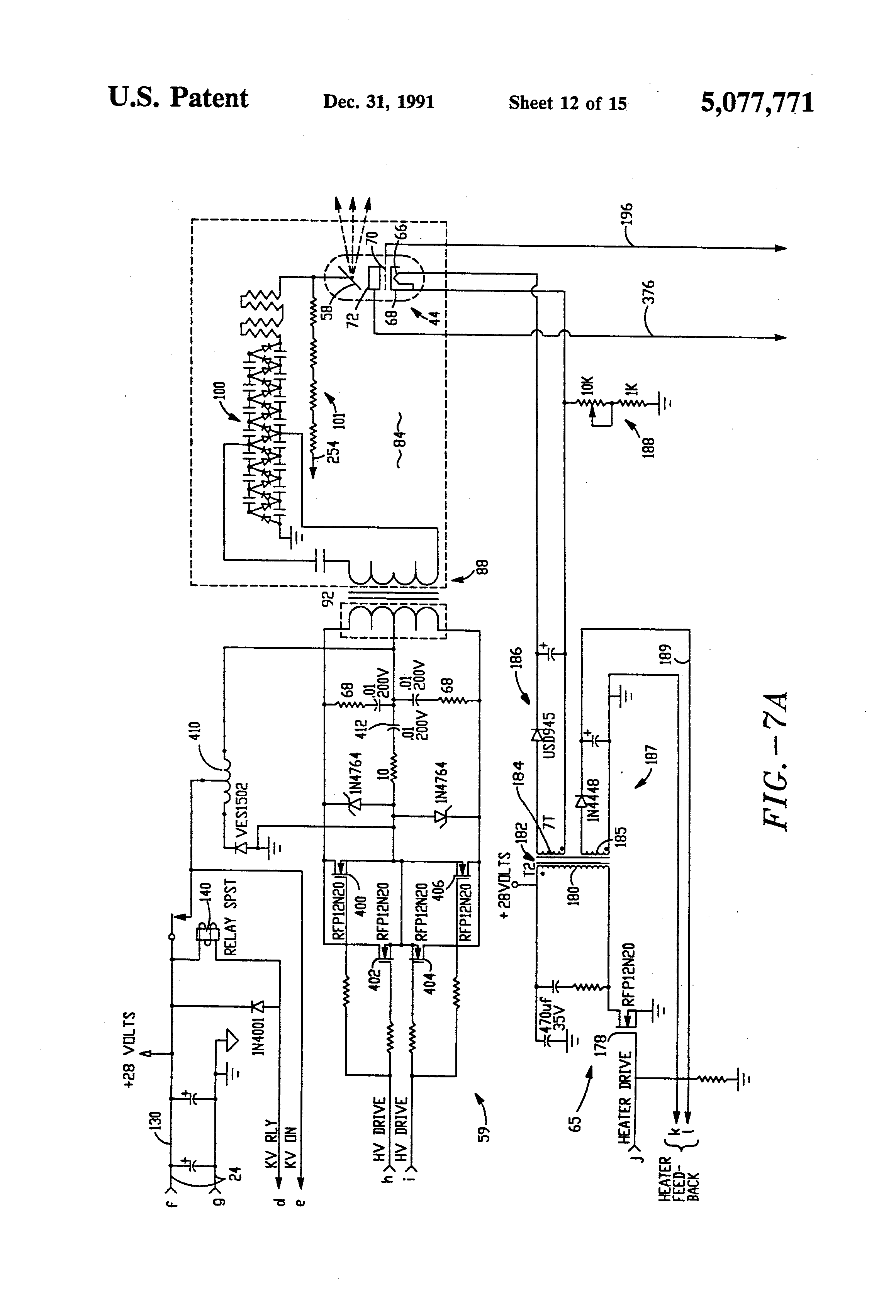 US5077771 12 patent us5077771 hand held high power pulsed precision x ray Federal Signal Wig Wag Wiring-Diagram at gsmportal.co