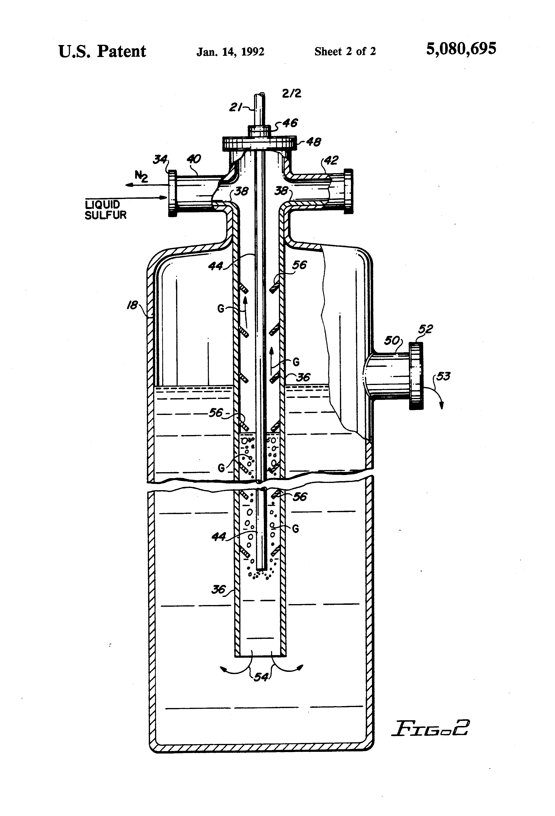 Patent us method of removing hydrogen sulfide