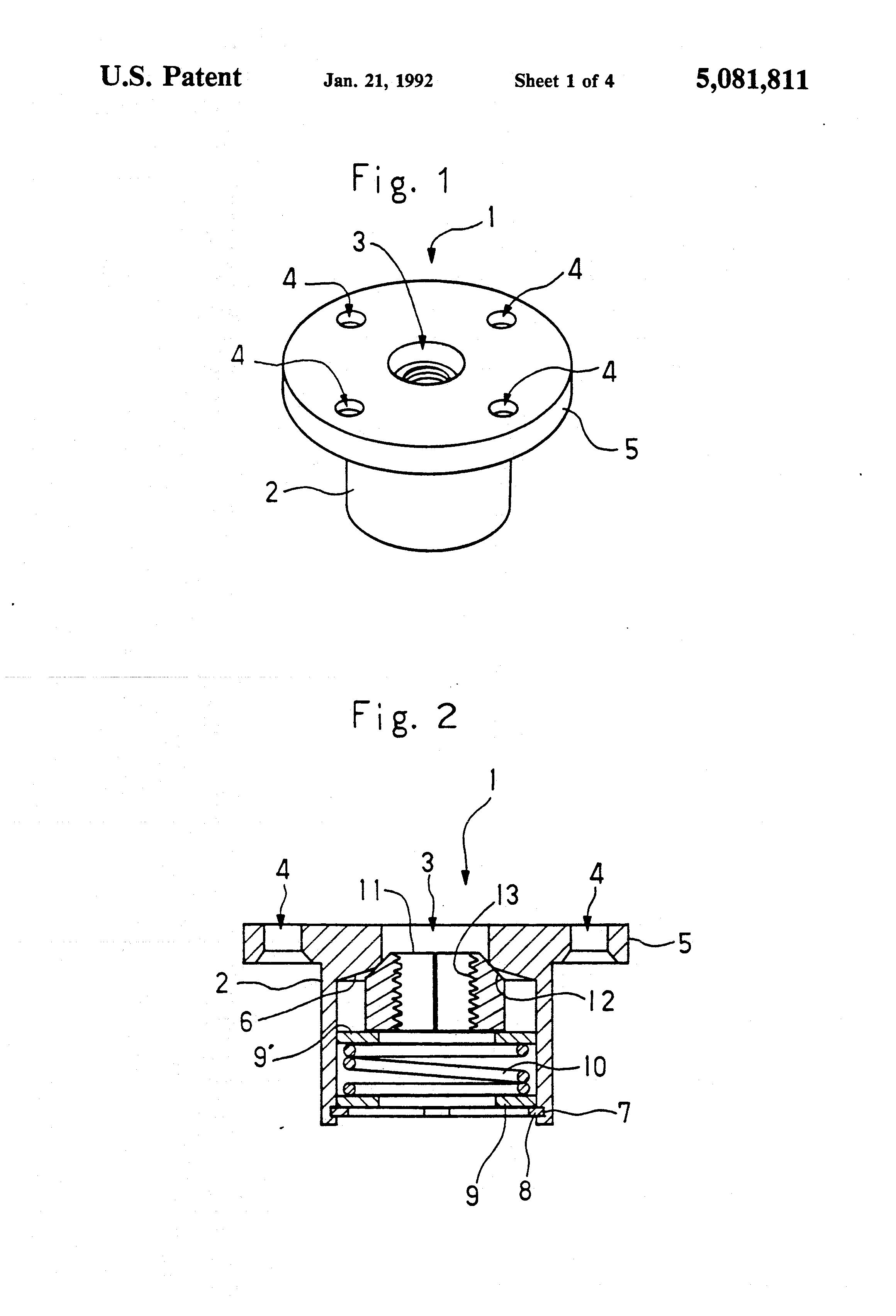 patent us5081811 self locking nut mechanism google patents