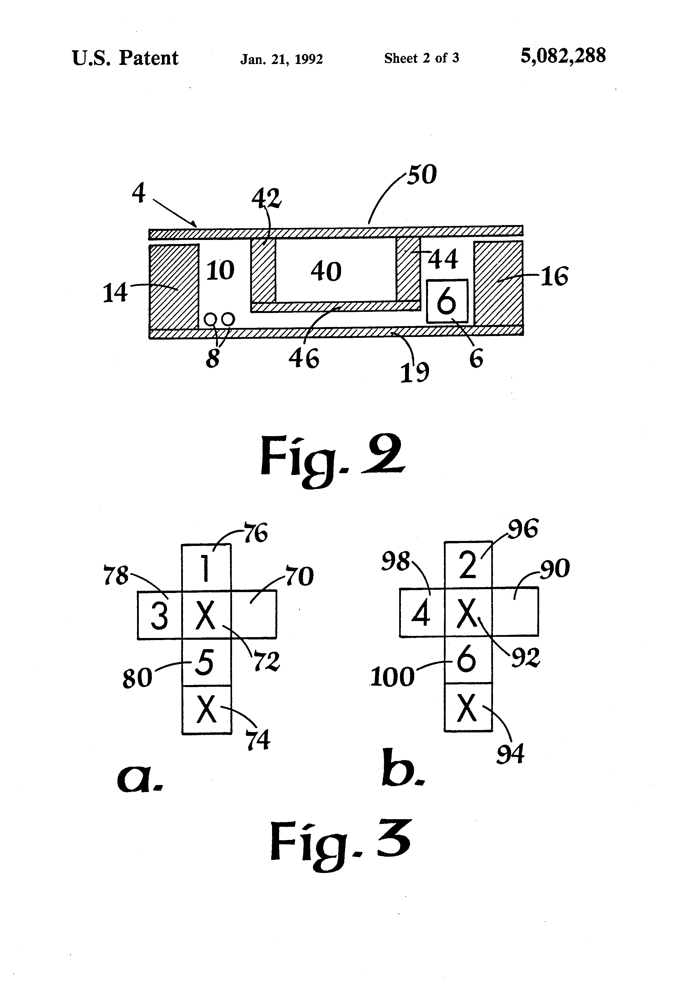patent us5082288 - dice game simulating horseshoe pitching