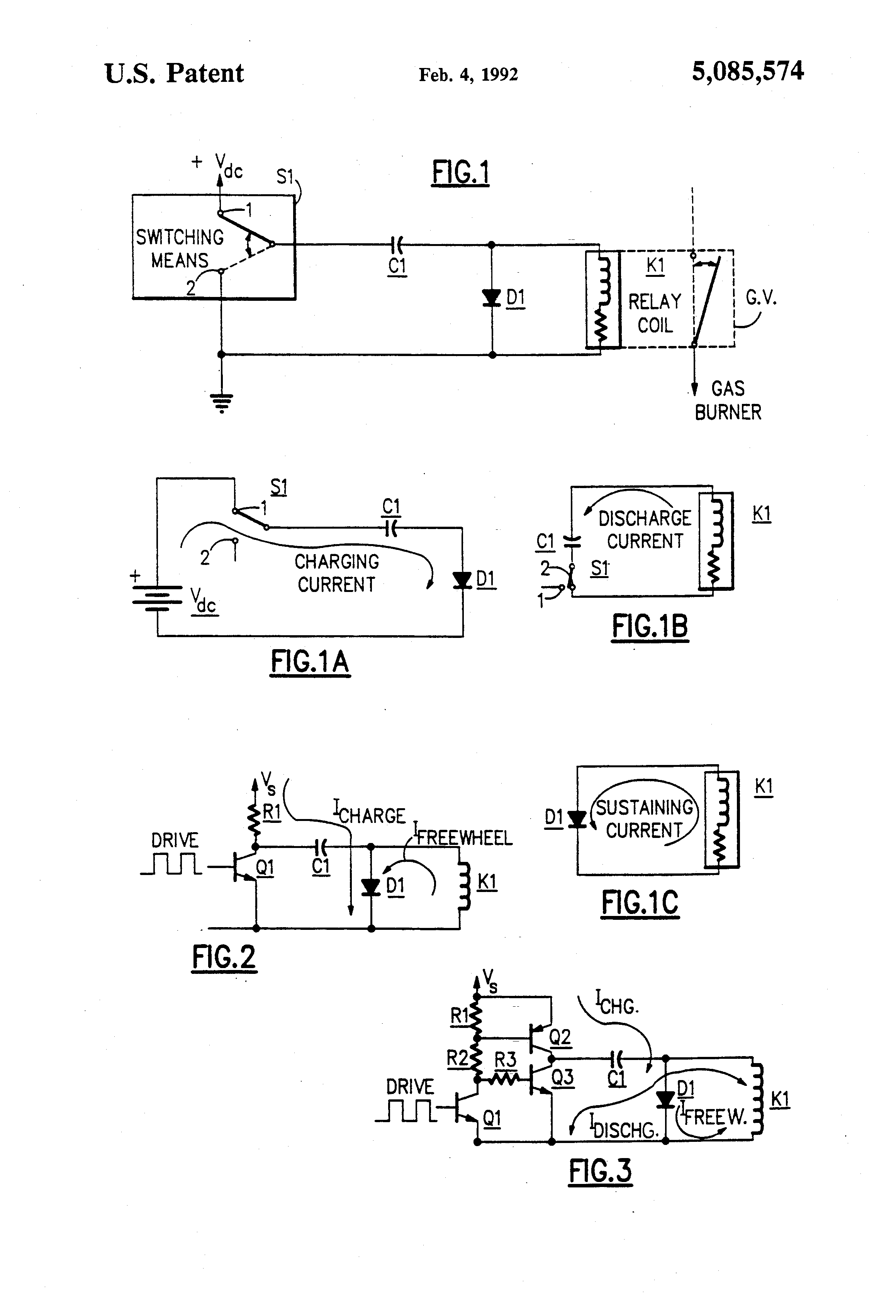 Patent US Failsafe Valve Relay Driver Circuit For Gas - Circuit diagram of relay driver