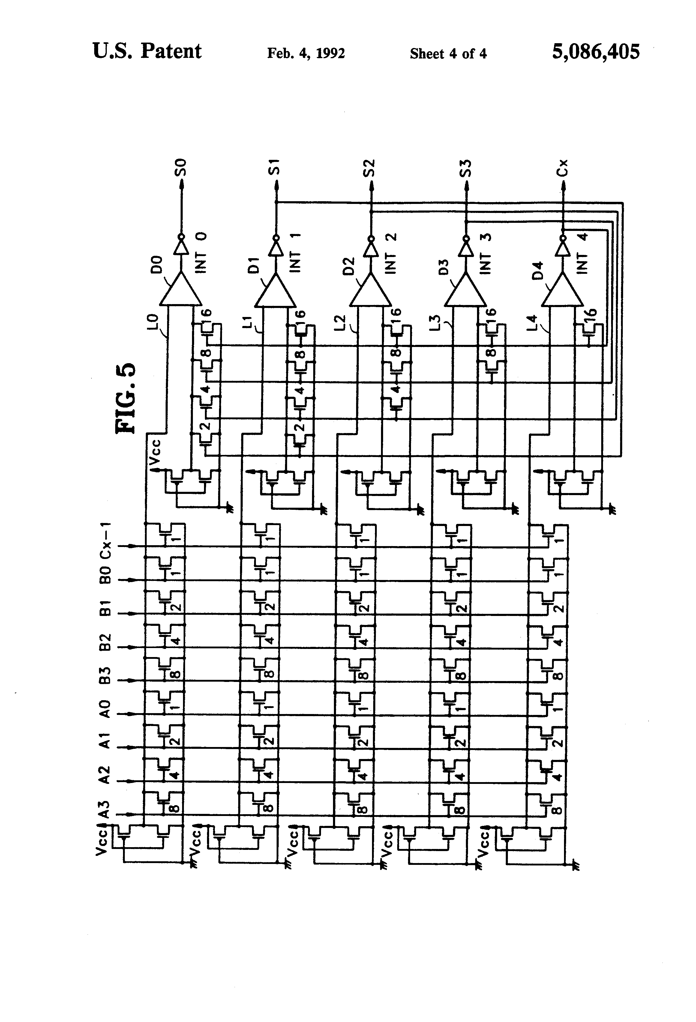 patent us5086405 - floating point adder circuit using neural network