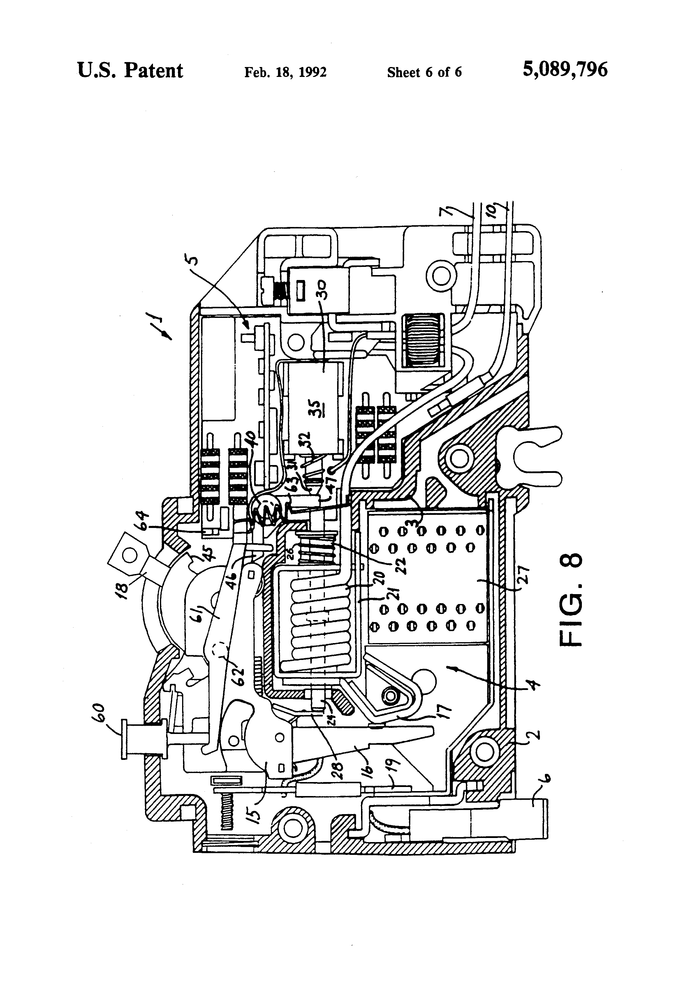 patent us5089796 - earth leakage trip indicator