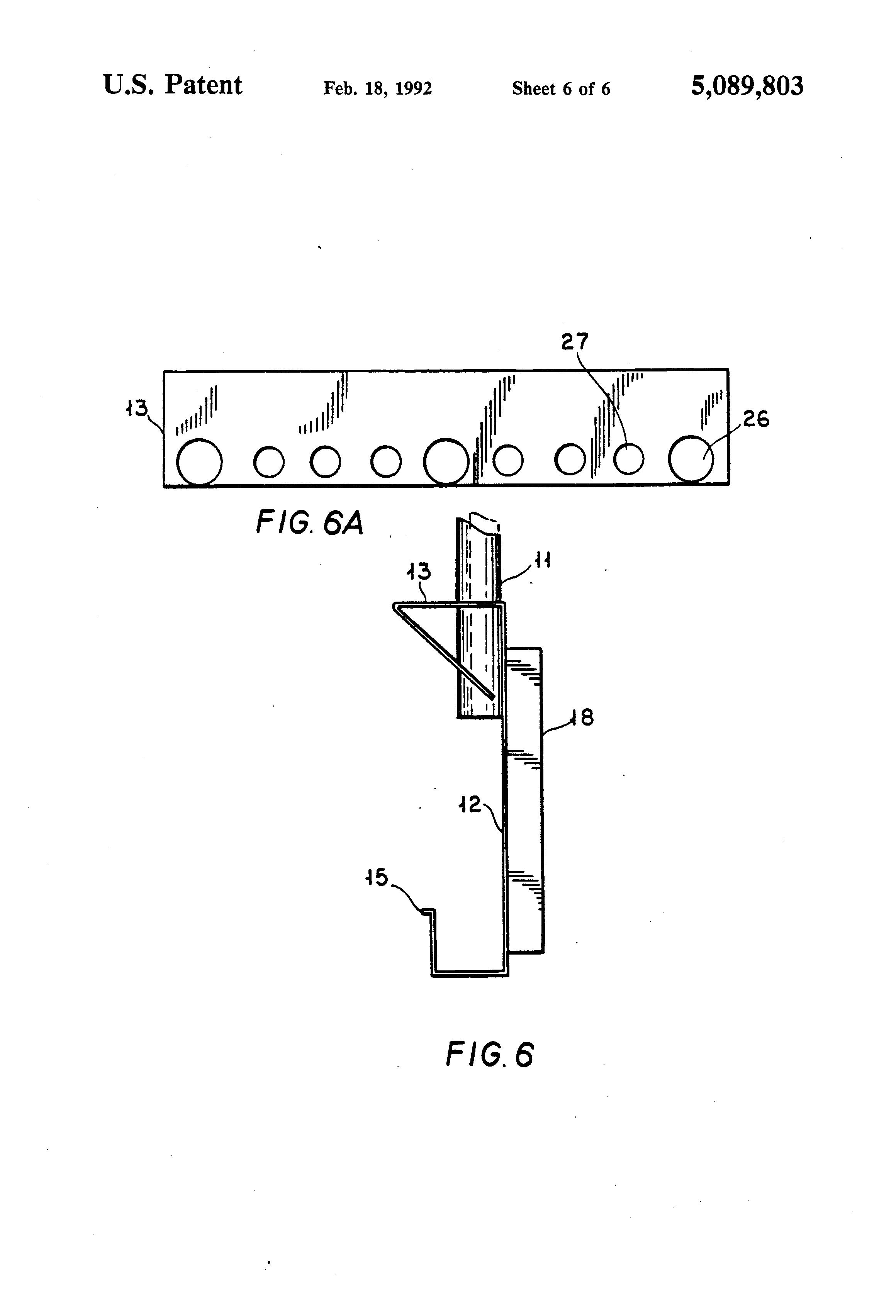 patent us5089803 - parking lot car locator